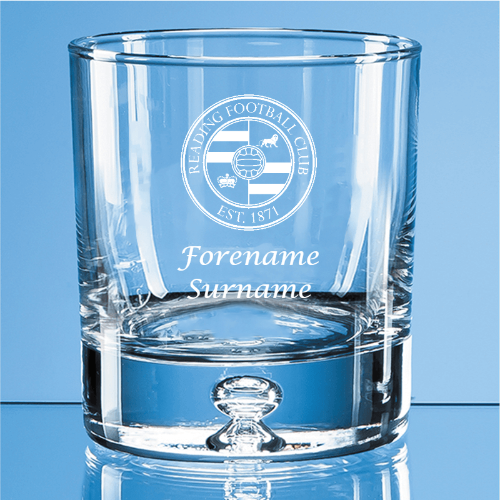 Reading FC Crest Bubble Base Whisky Tumbler