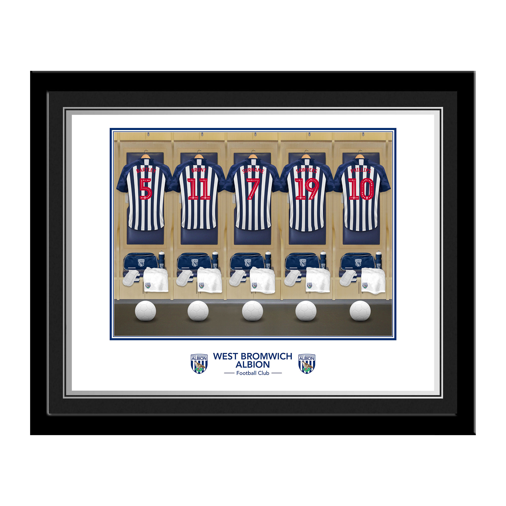 West Bromwich Albion FC Dressing Room Photo Framed