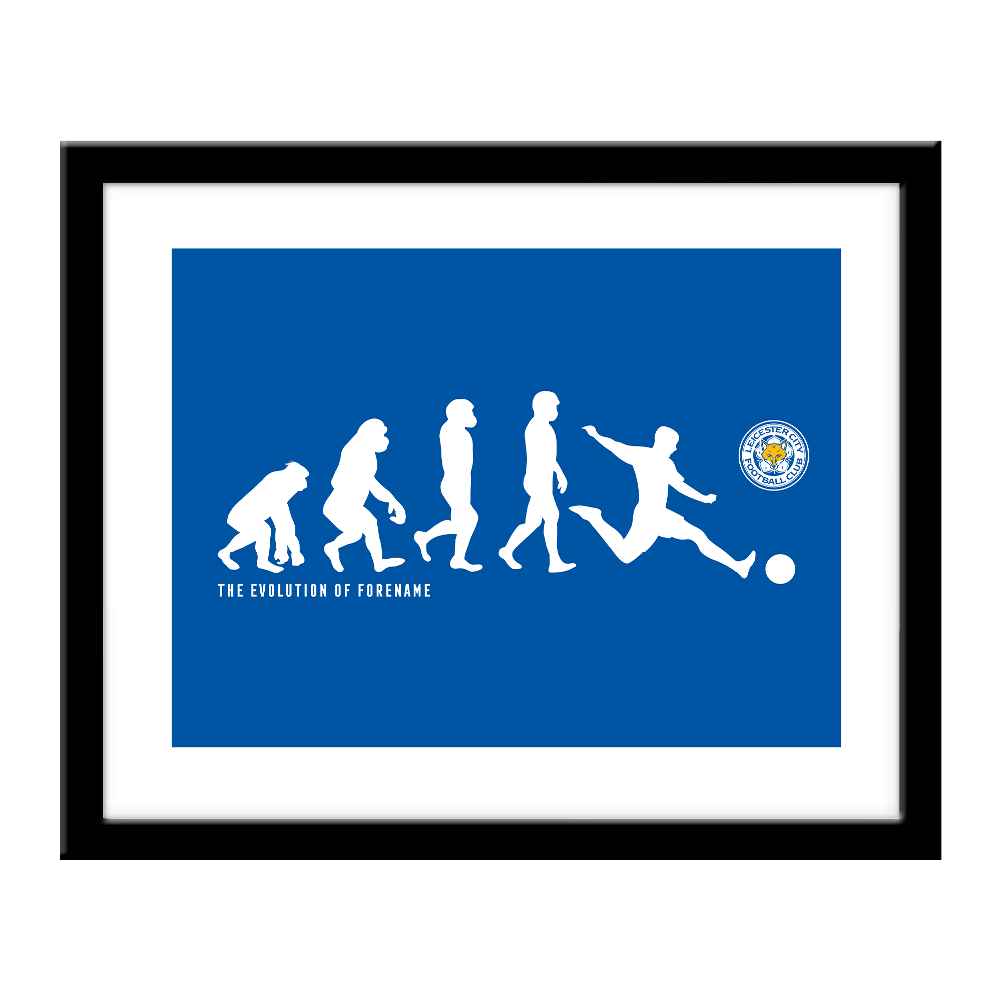 Leicester City FC Evolution Print