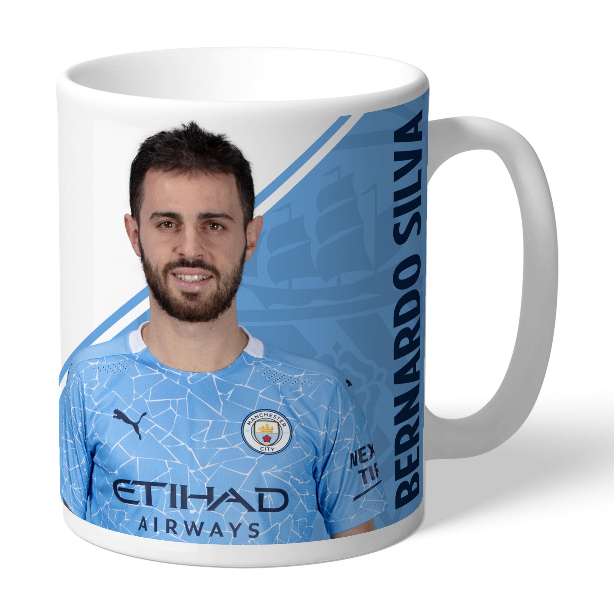 Manchester City FC Bernardo Autograph Mug