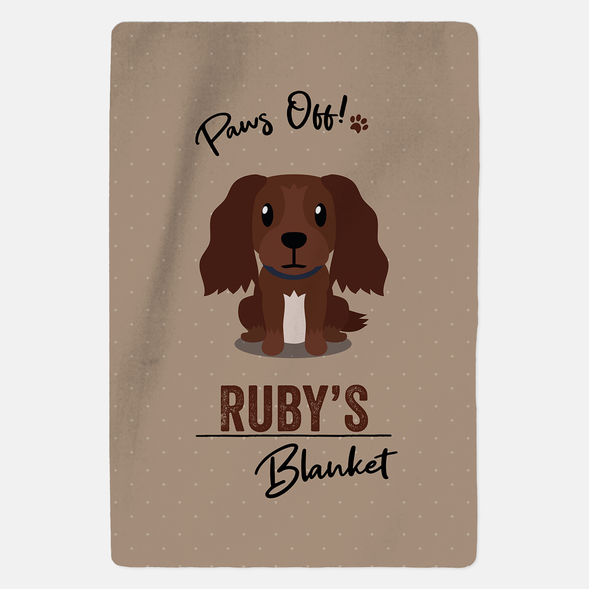 Personalised Brown Cocker Spaniel Blanket - Paws Off