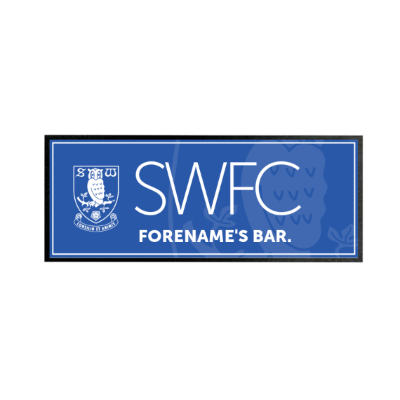 Sheffield Wednesday FC Mono Crest Regular Bar Runner