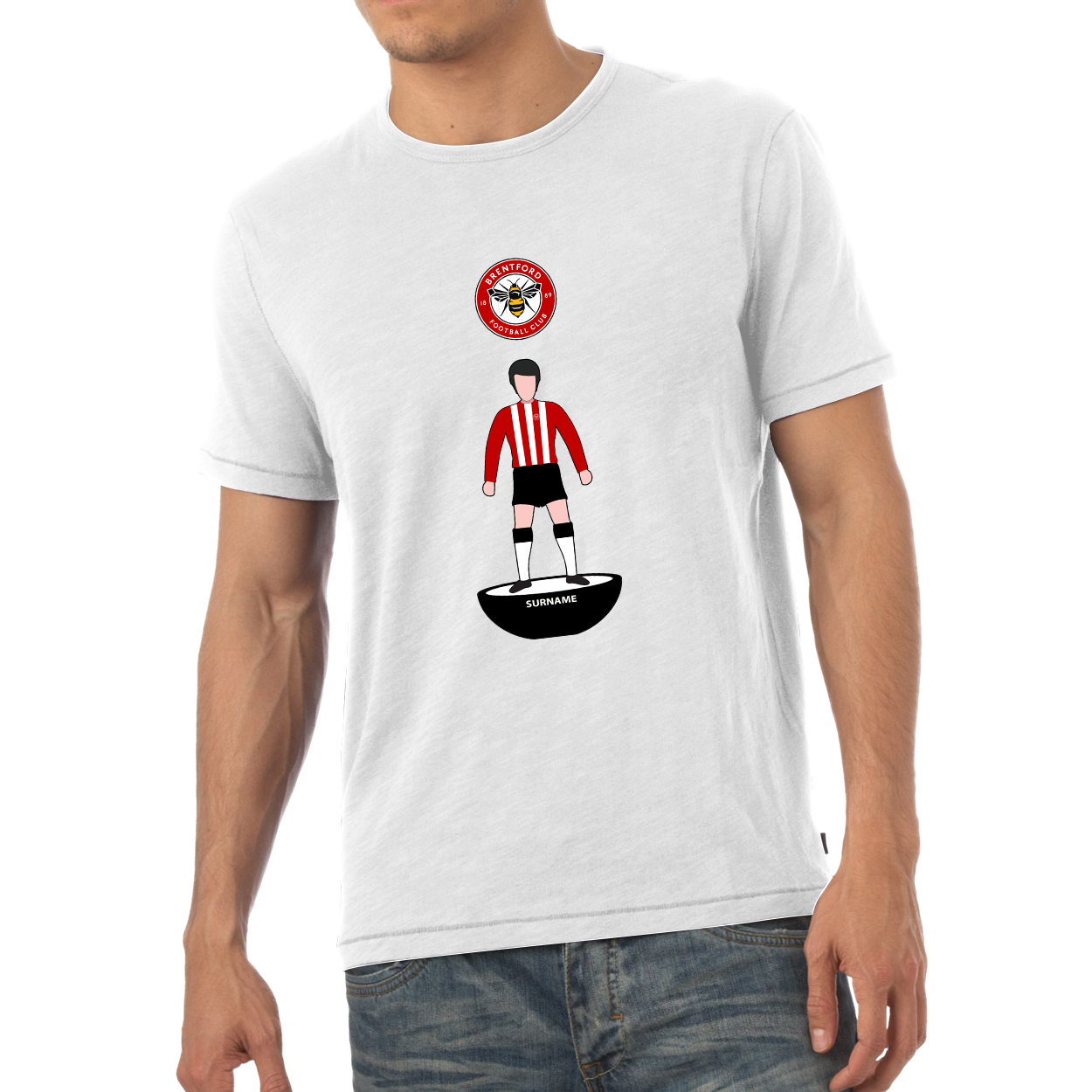 Brentford Player Figure Mens T-Shirt