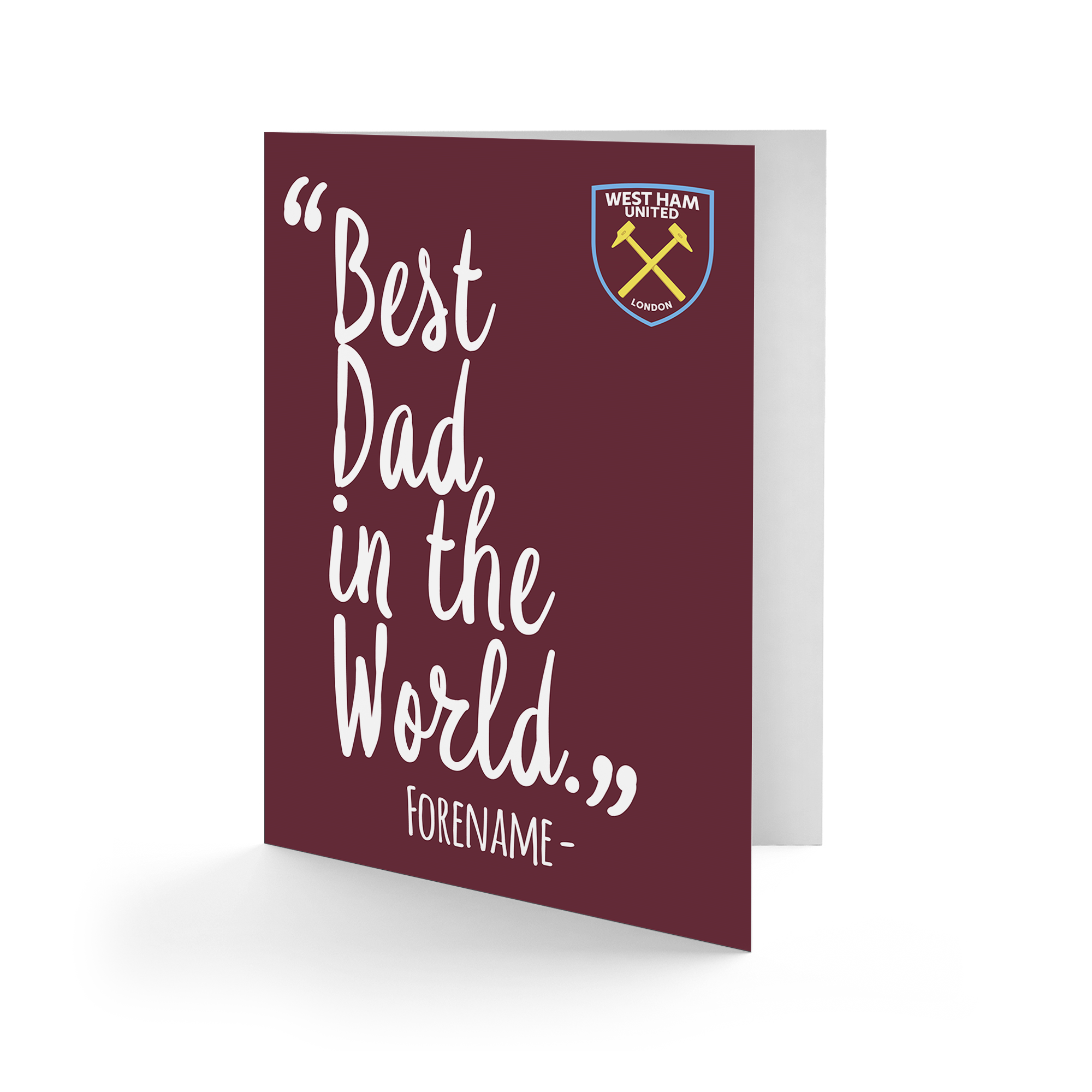 West Ham United FC Best Dad In The World Card