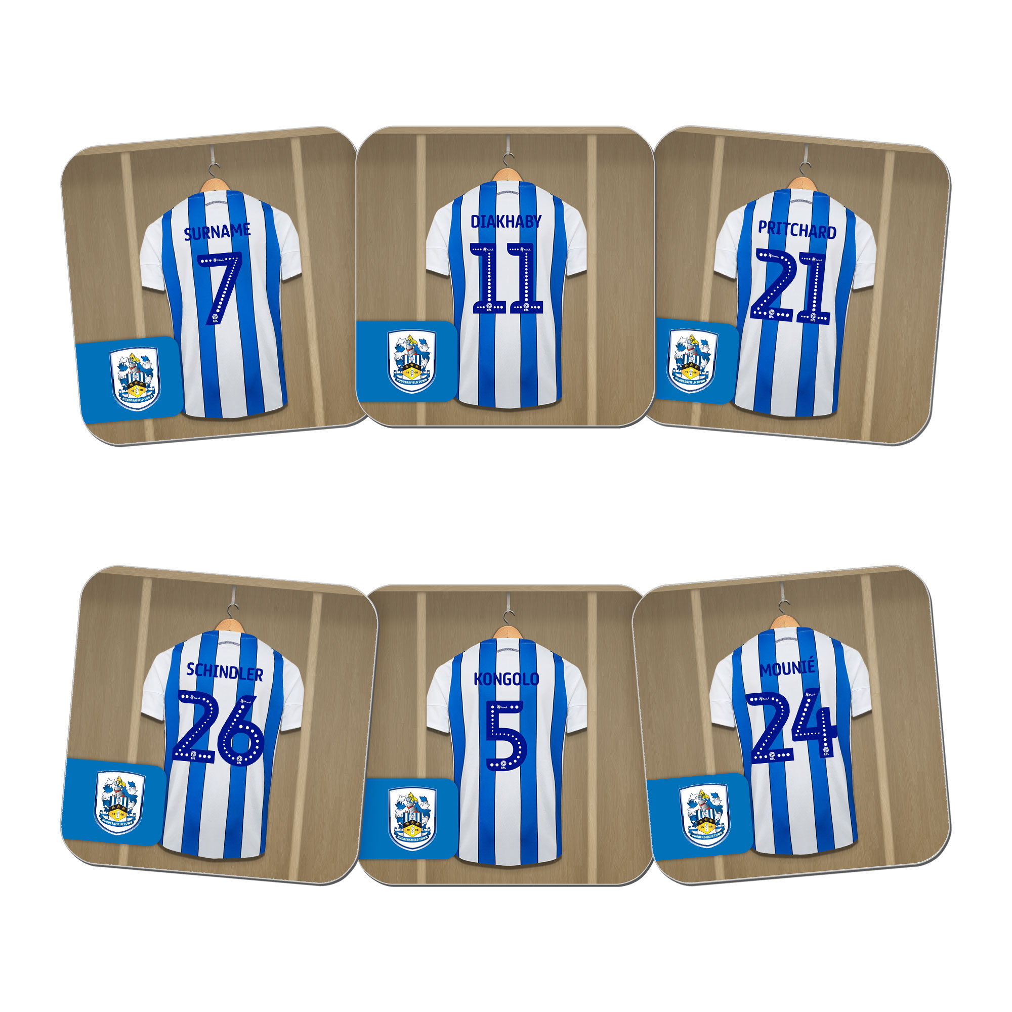 Huddersfield Town AFC Dressing Room Coasters