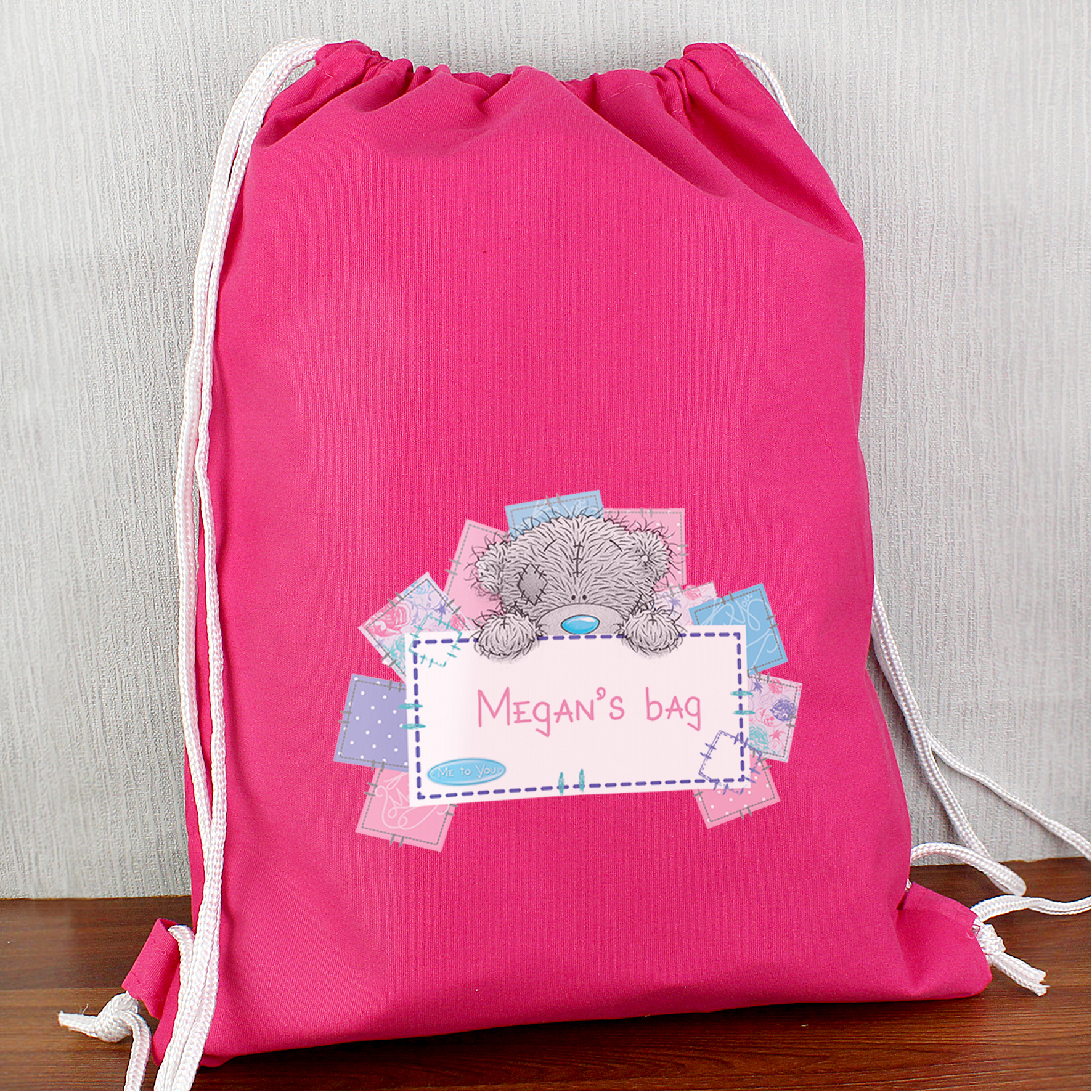 Personalised Me To You Pink Swim Bag