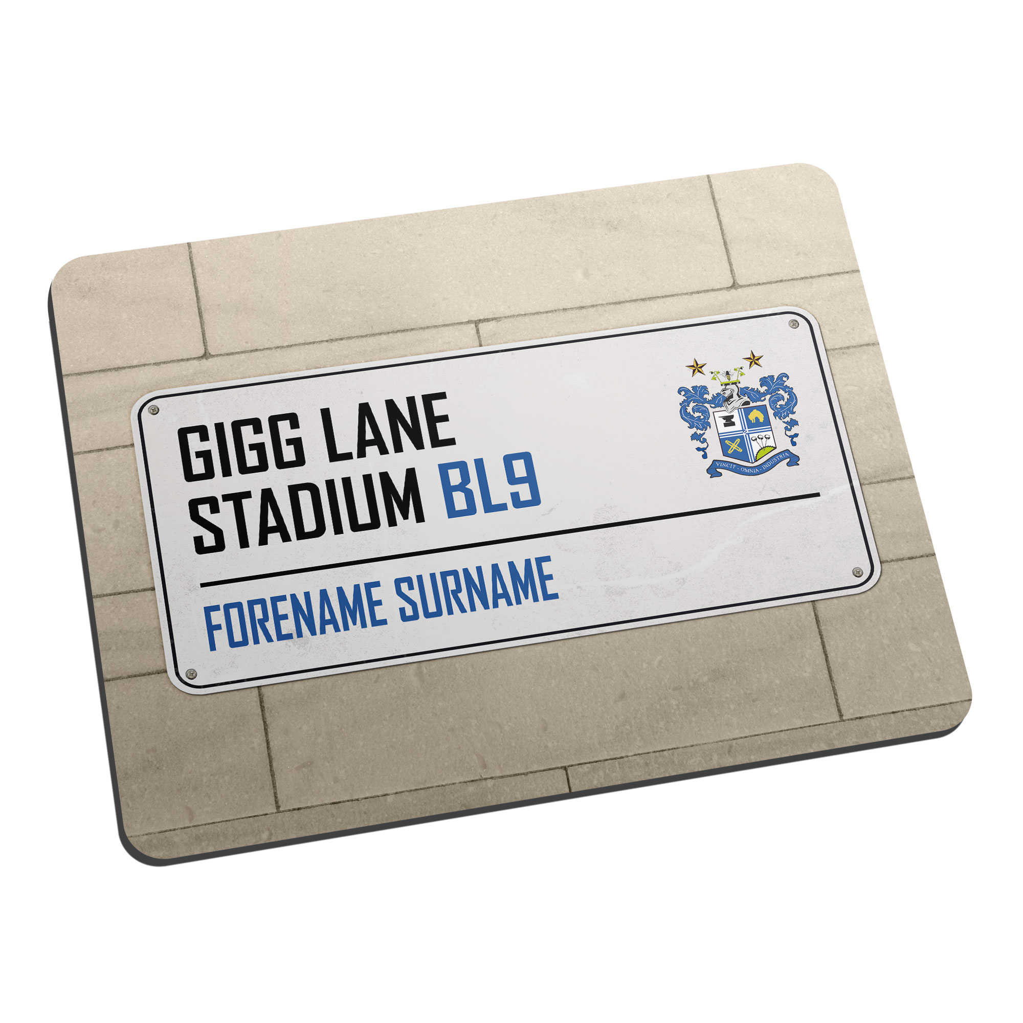 Bury FC Street Sign Mouse Mat
