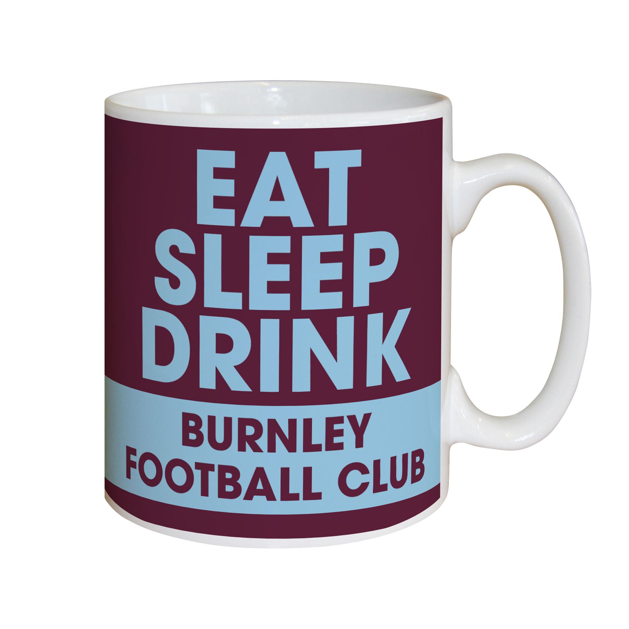 Burnley FC Eat Sleep Drink Mug
