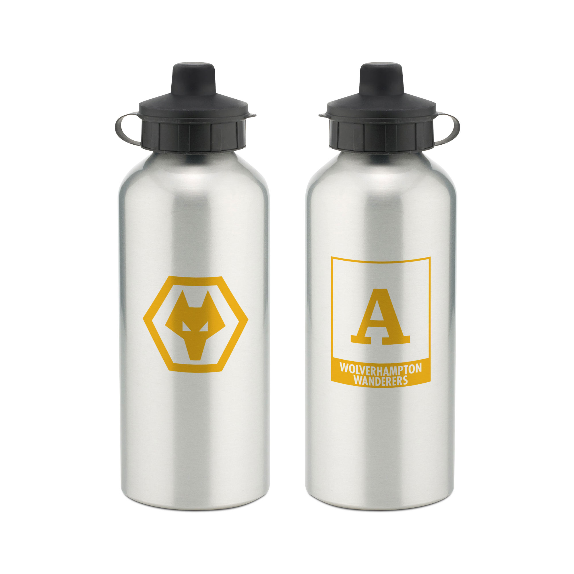 Wolves Monogram Aluminium Water Bottle