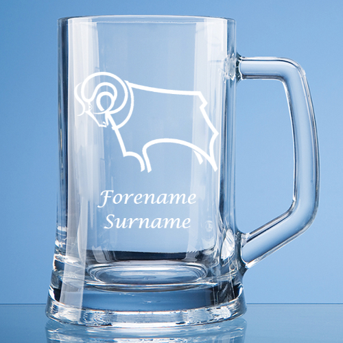 Derby County Crest Large Plain Straight Sided Tankard