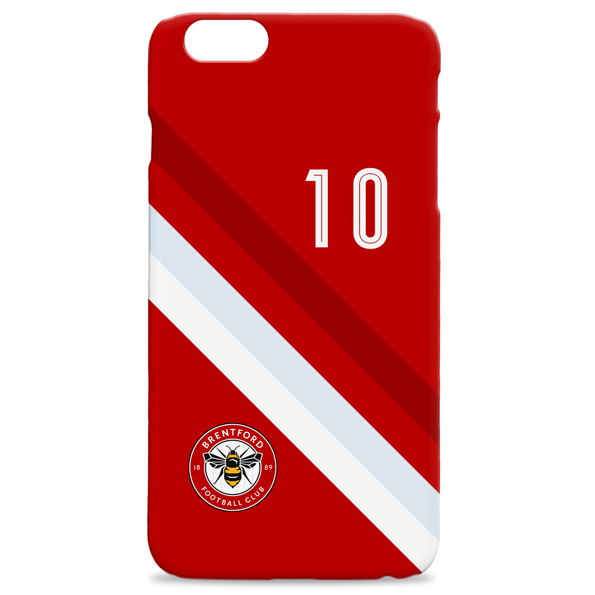 Brentford Stripe Hard Back Phone Case