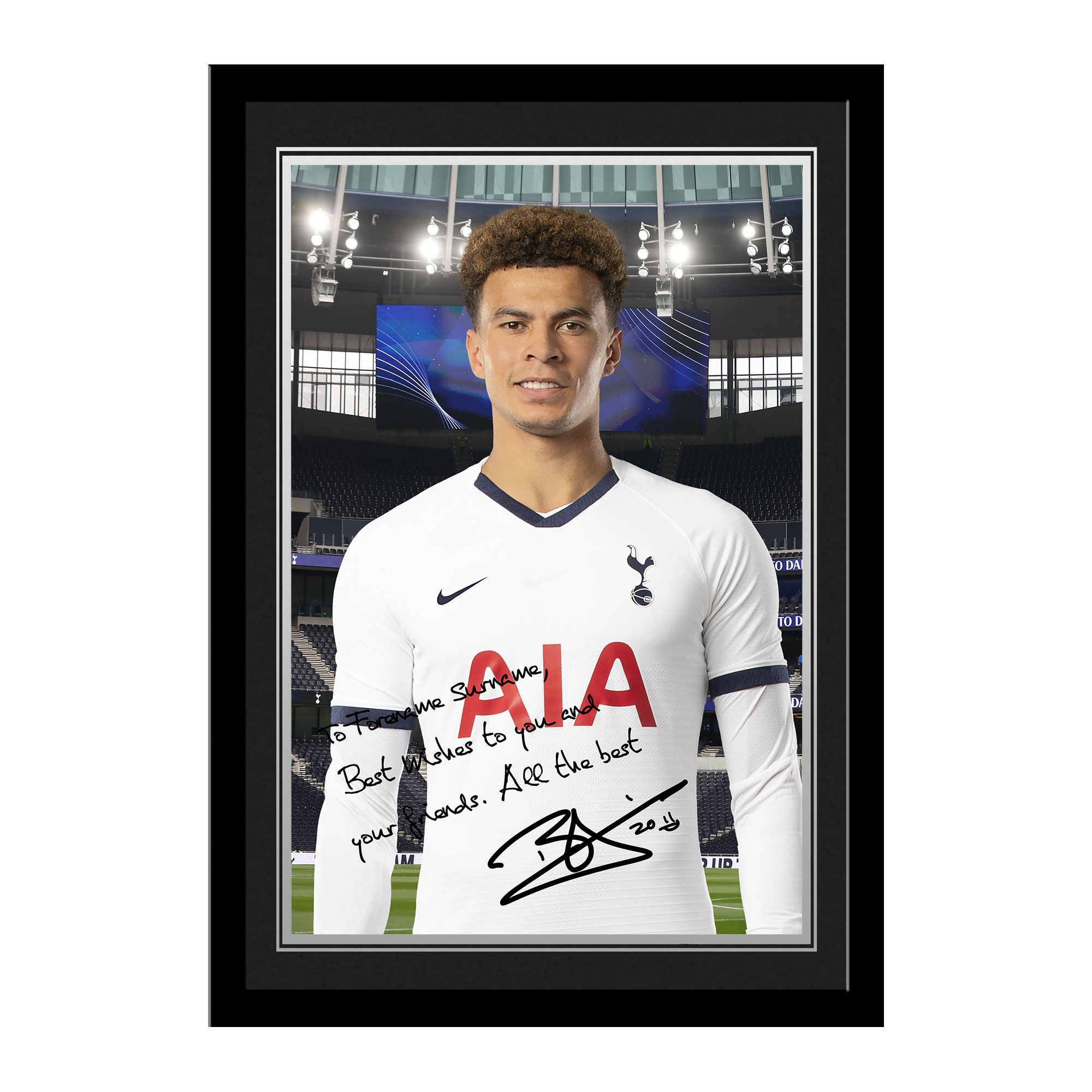 Tottenham Hotspur Alli Autograph Photo Framed