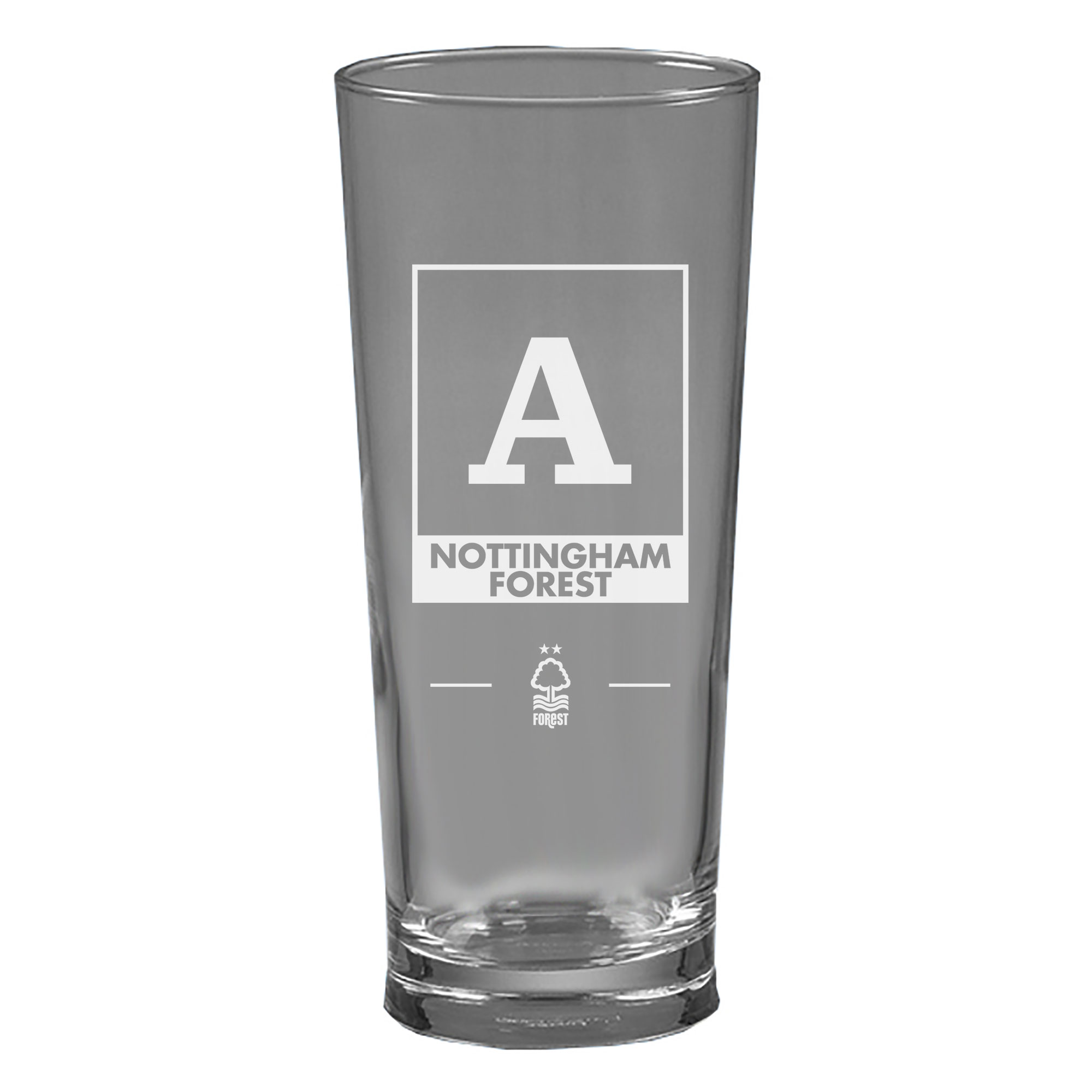 Nottingham Forest FC Monogram Straight Sided Beer Glass