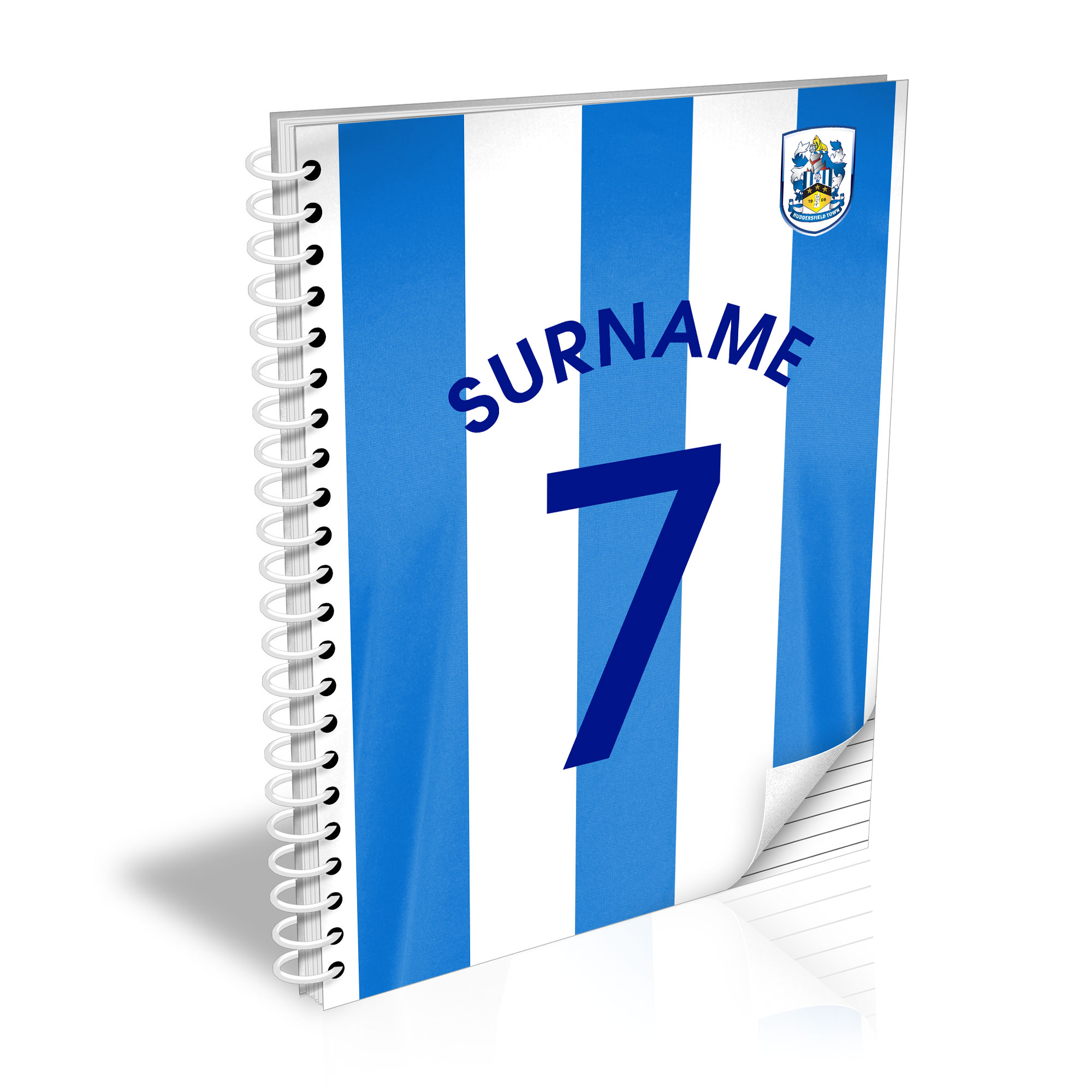 Huddersfield Town Shirt Notebook