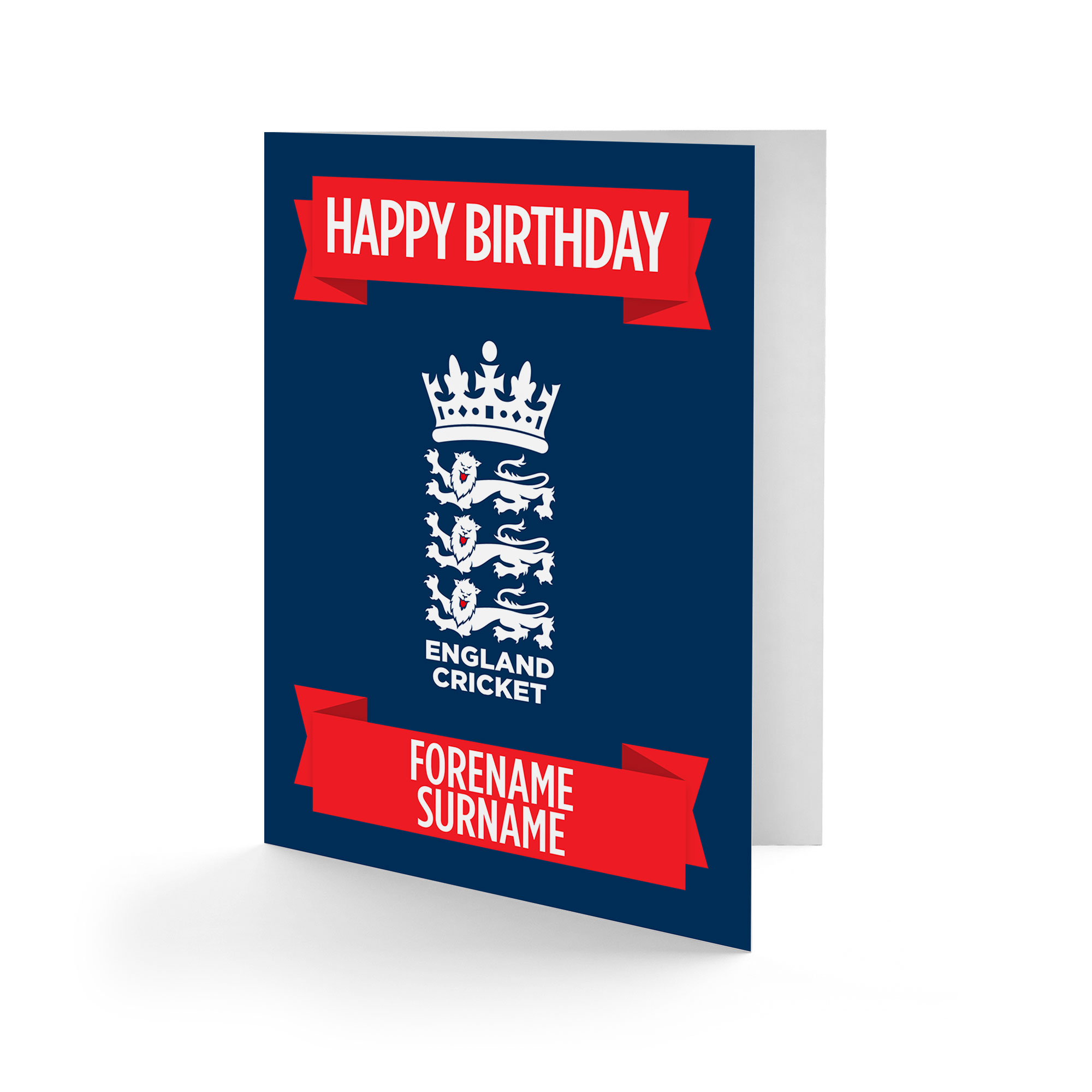 England Cricket Crest Birthday Card