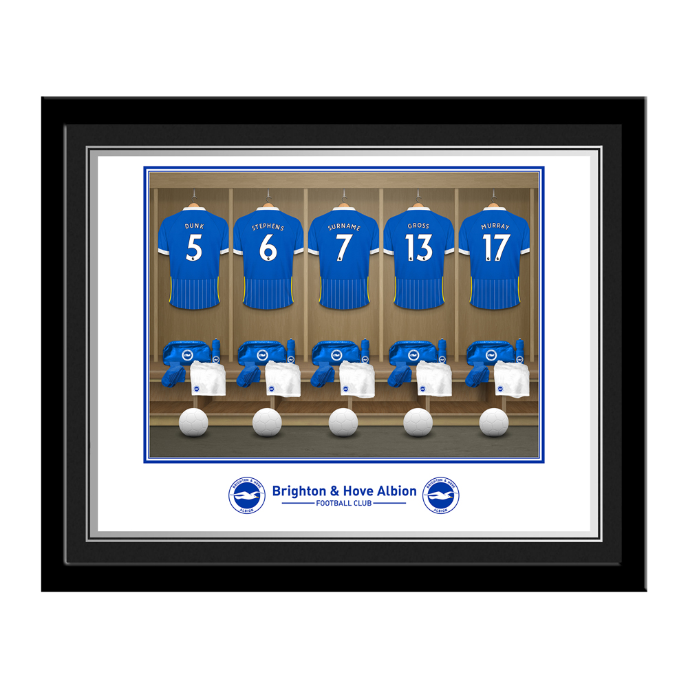Brighton & Hove Albion FC Dressing Room Photo Framed