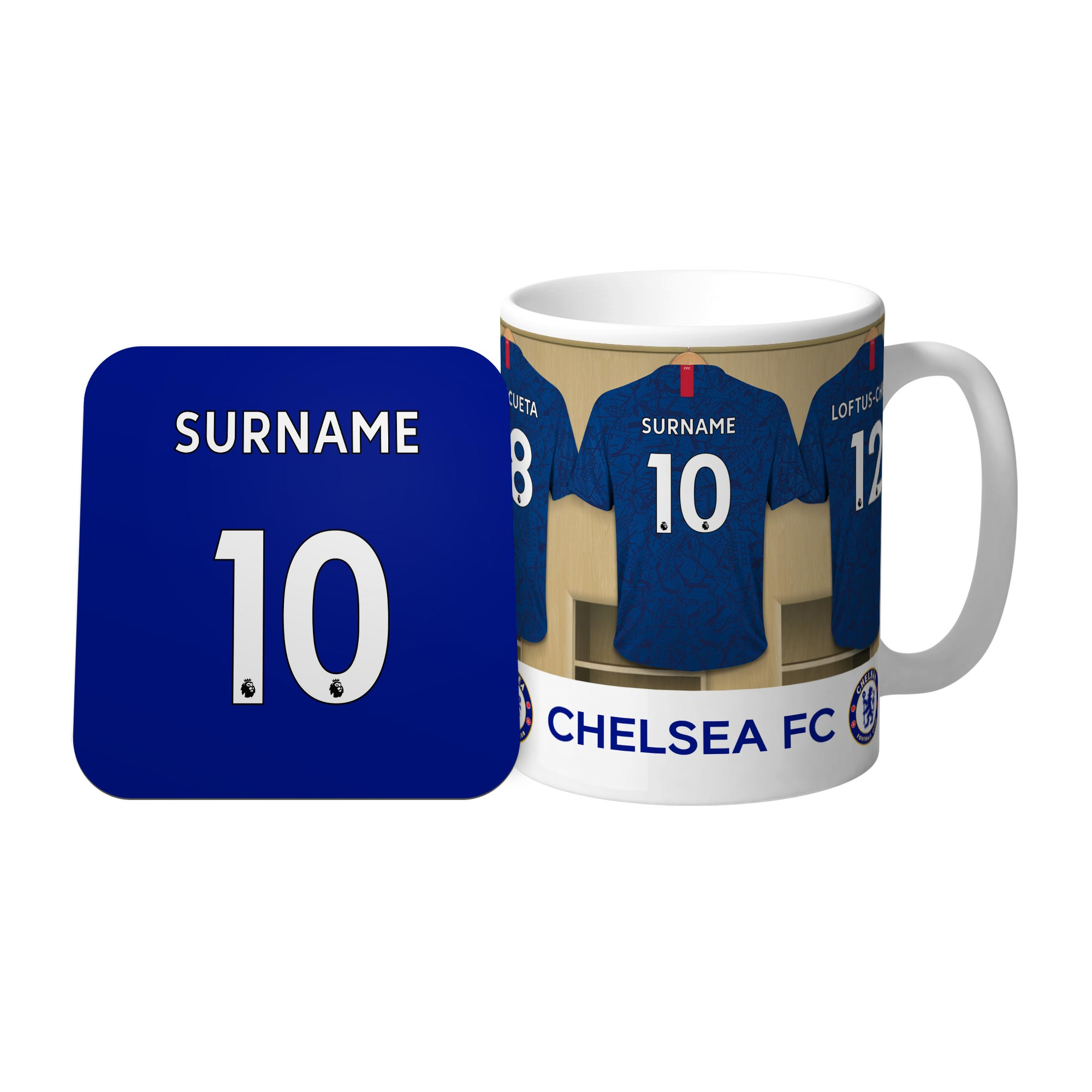 Chelsea FC Dressing Room Mug & Coaster Set