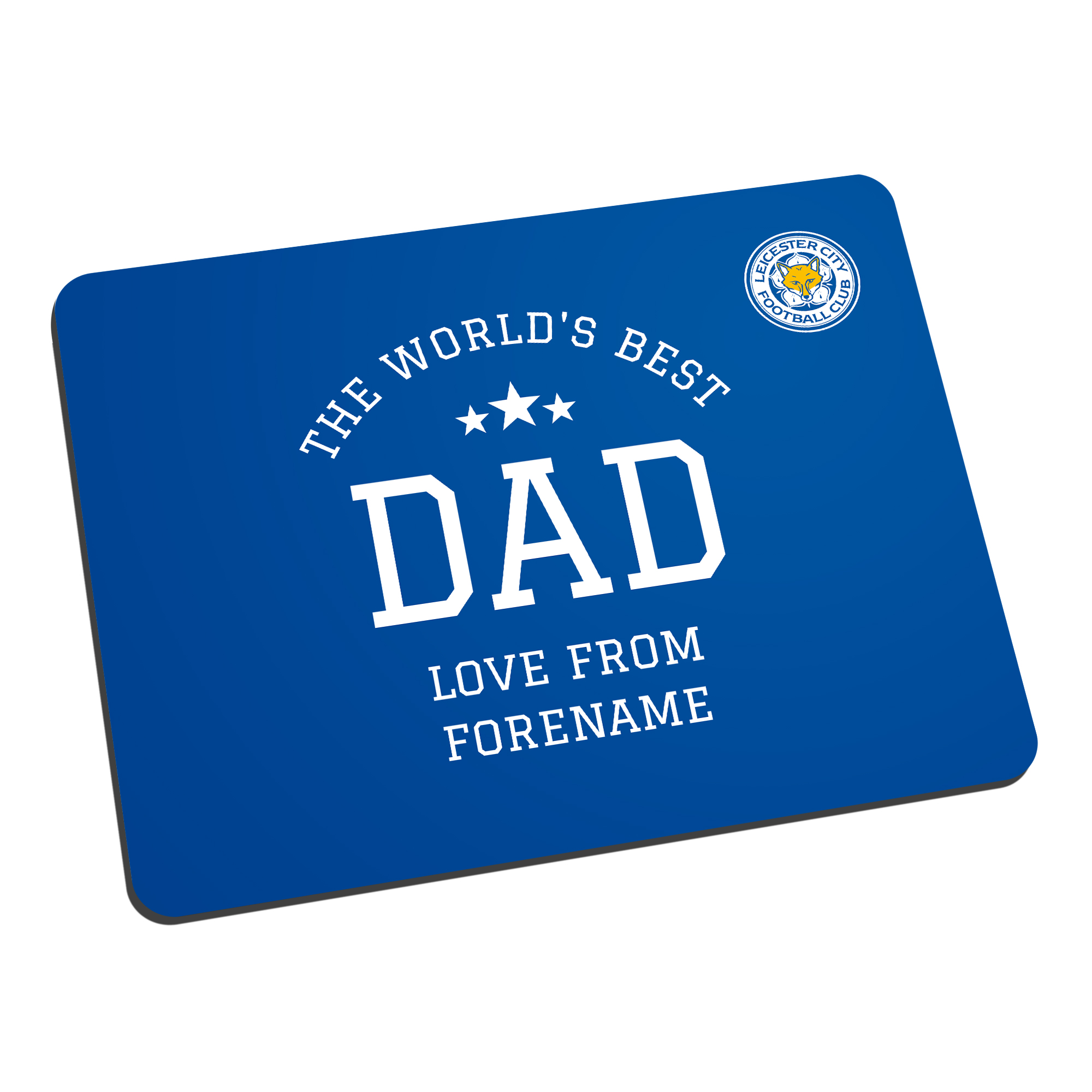 Leicester City FC World's Best Dad Mouse Mat