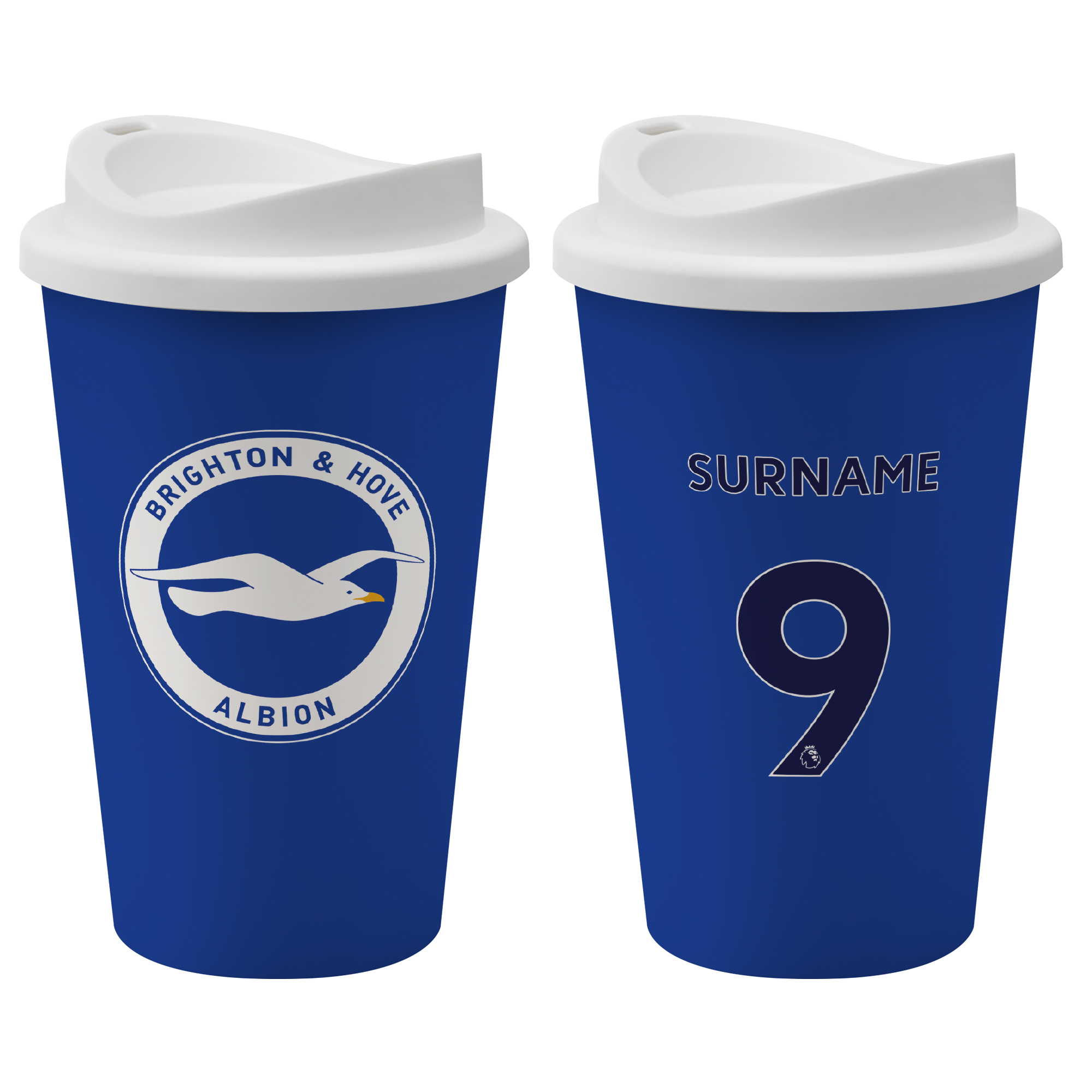 Brighton & Hove Albion FC Back of Shirt Reusable Cup