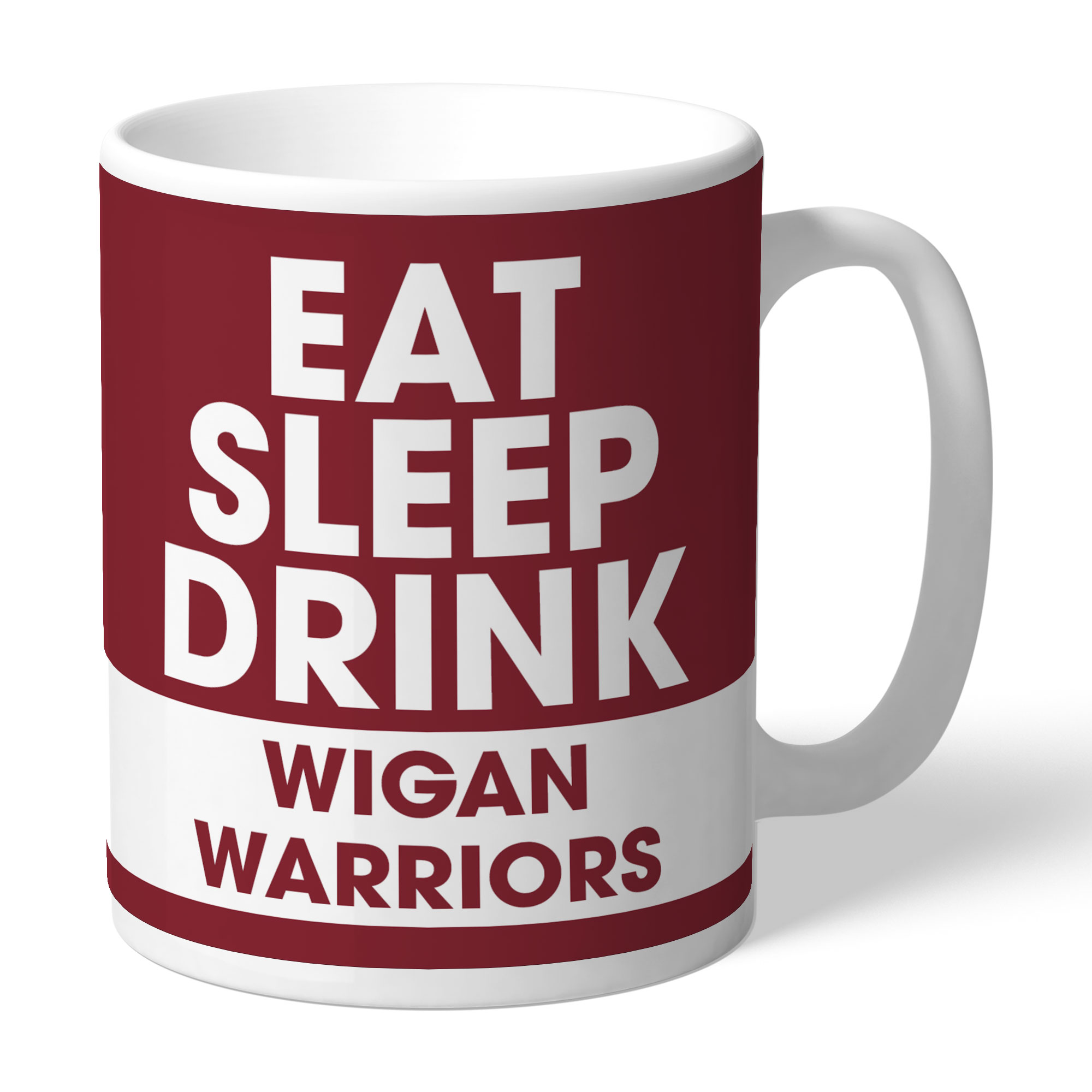 Wigan Warriors Eat Sleep Drink Mug