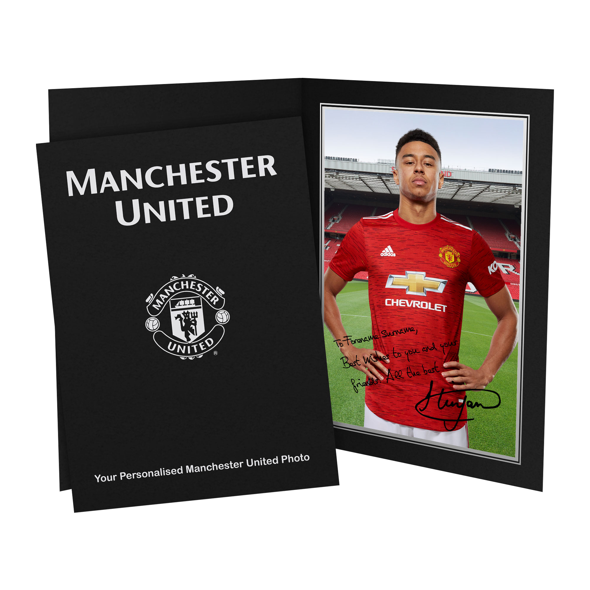 Manchester United FC Lingard Autograph Photo Folder