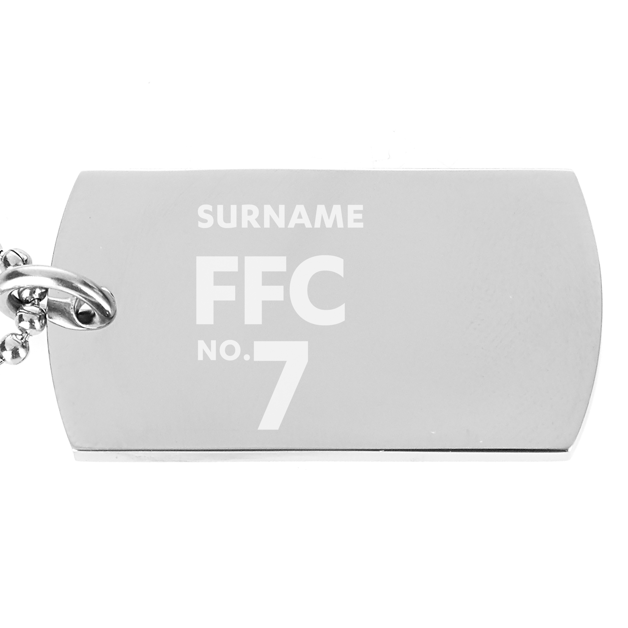 Fulham FC Number Dog Tag Pendant
