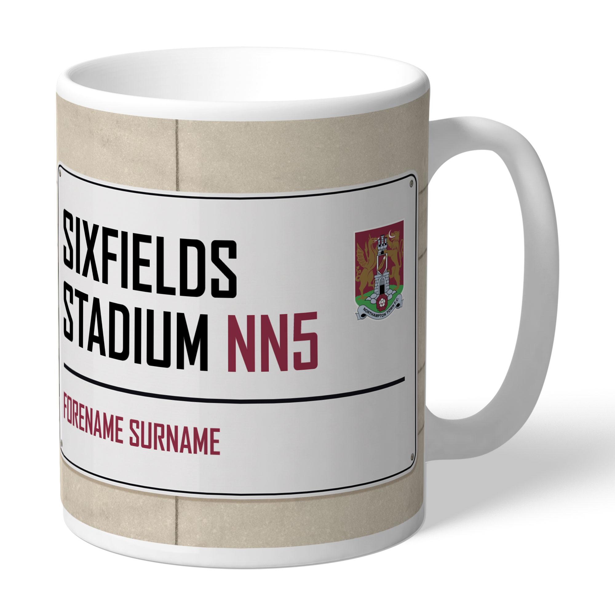 Northampton Town FC Street Sign Mug