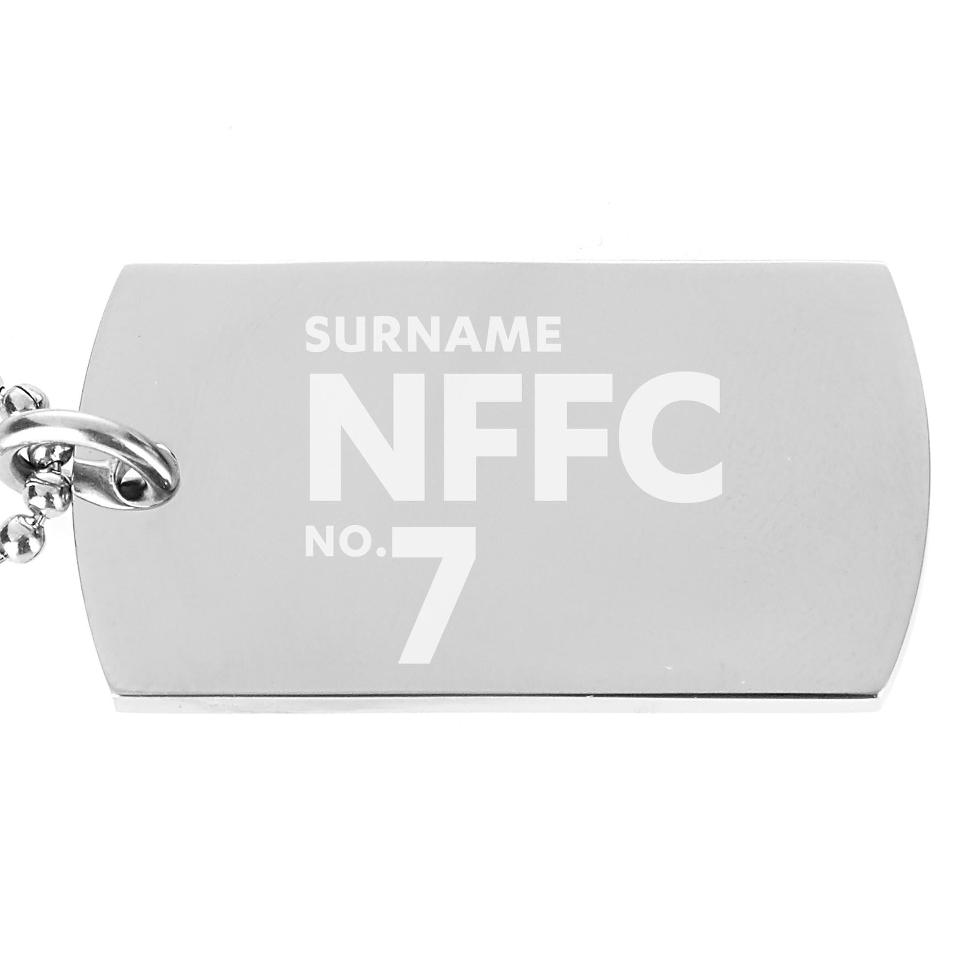Nottingham Forest FC Number Dog Tag Pendant