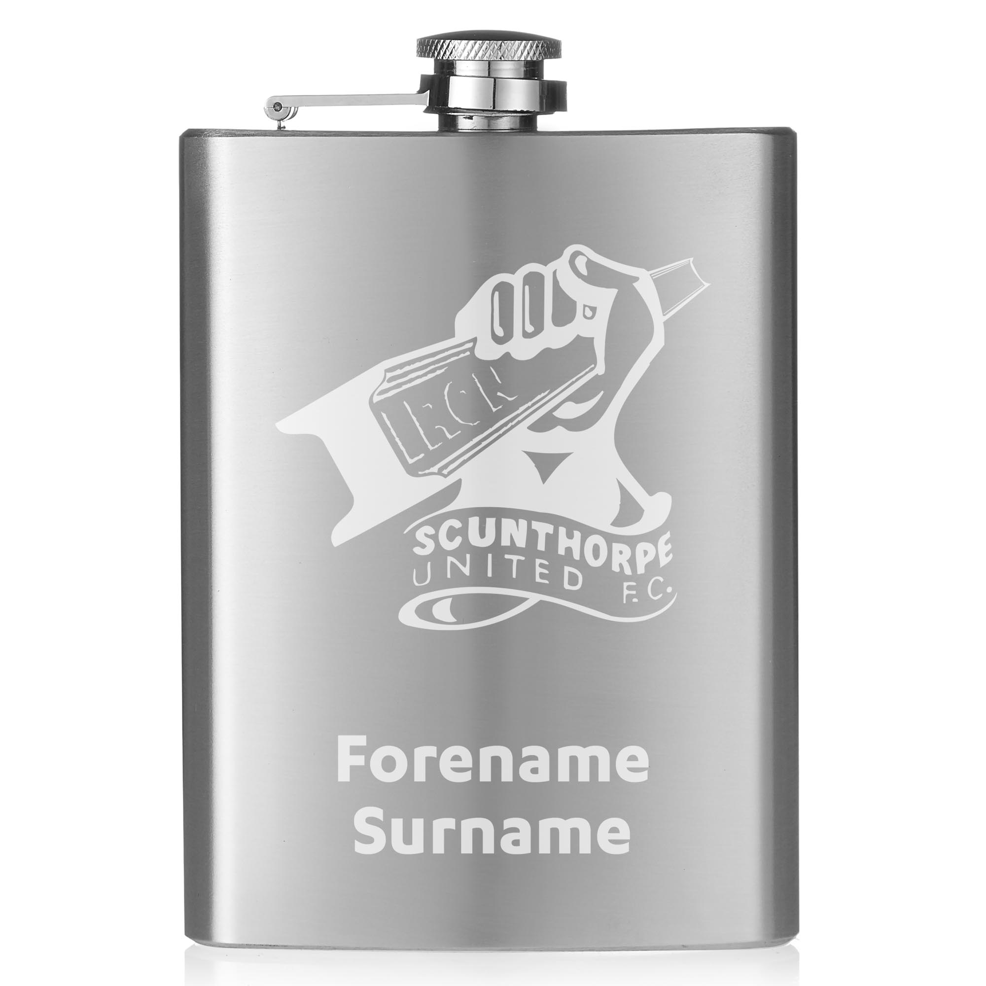 Scunthorpe United FC Crest Hip Flask
