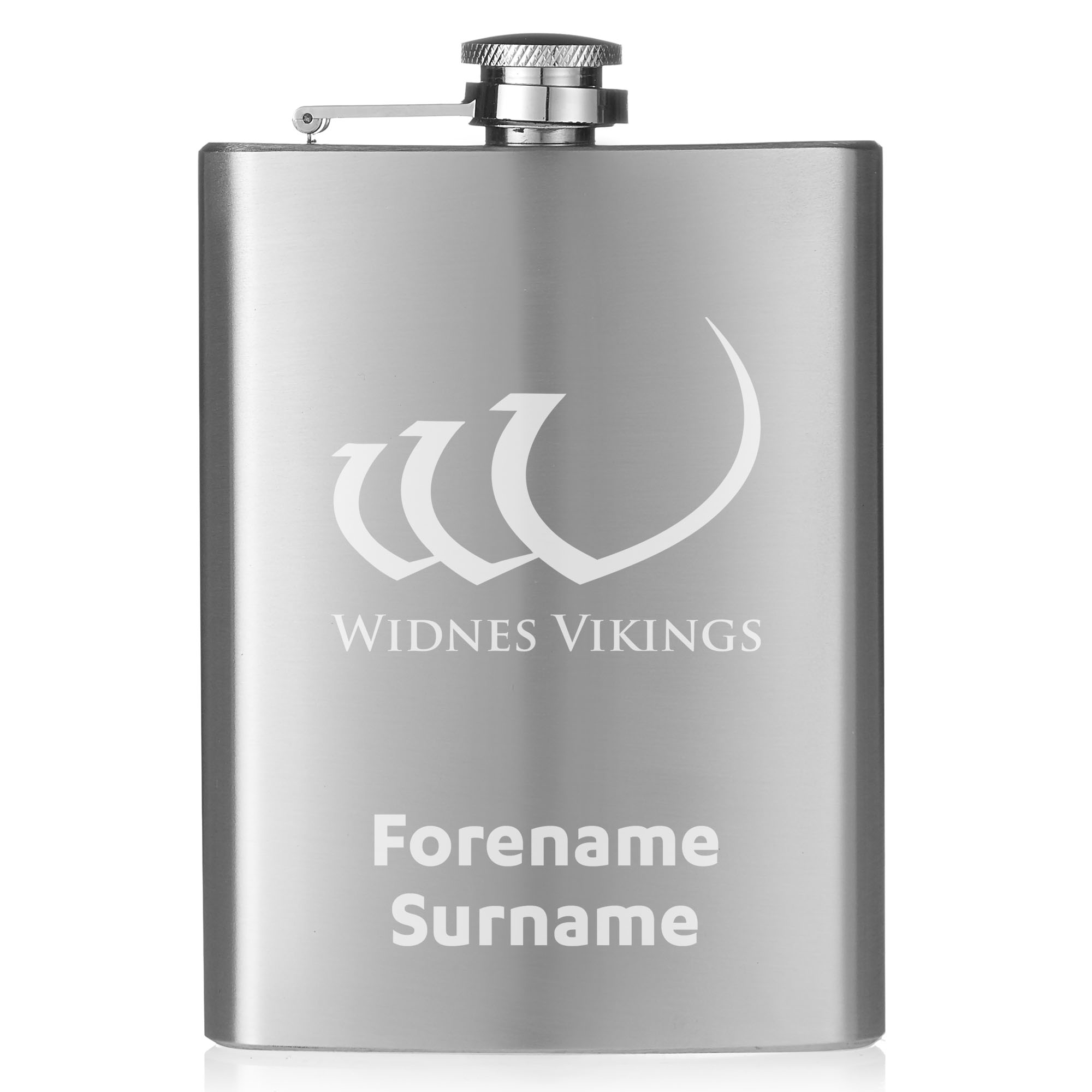Widnes Vikings Crest Hip Flask