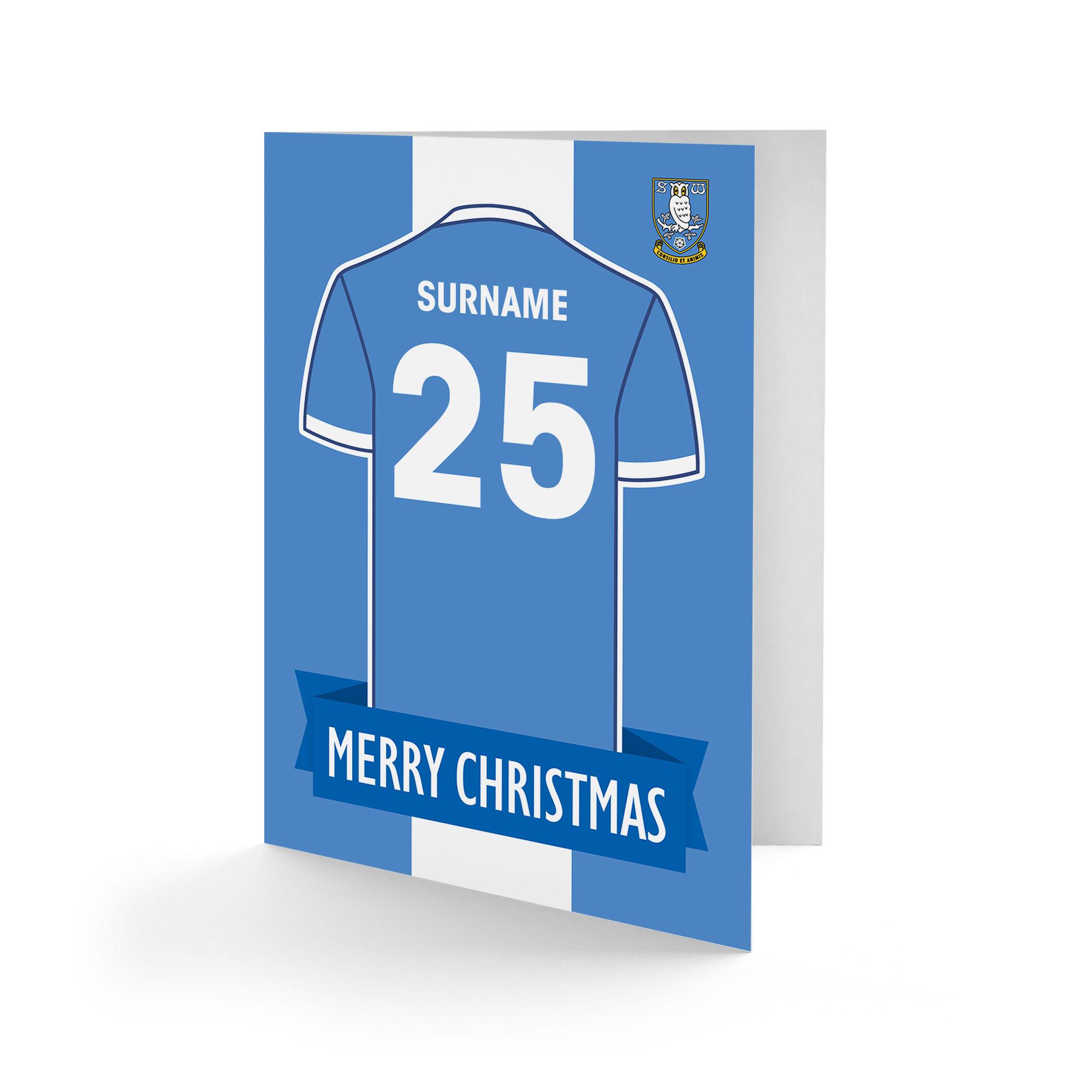 Sheffield Wednesday FC Shirt Christmas Card