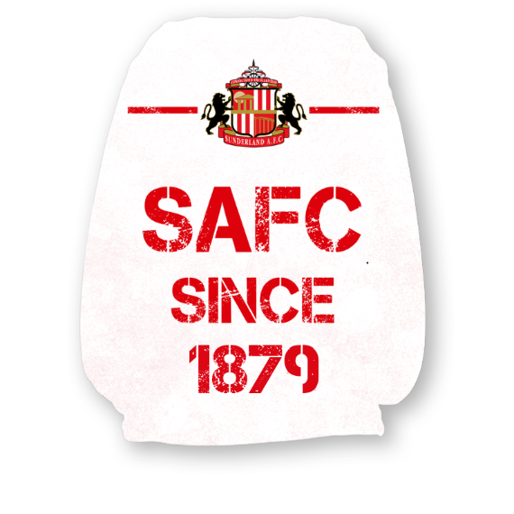 Sunderland Paint Splash Headrest Cover