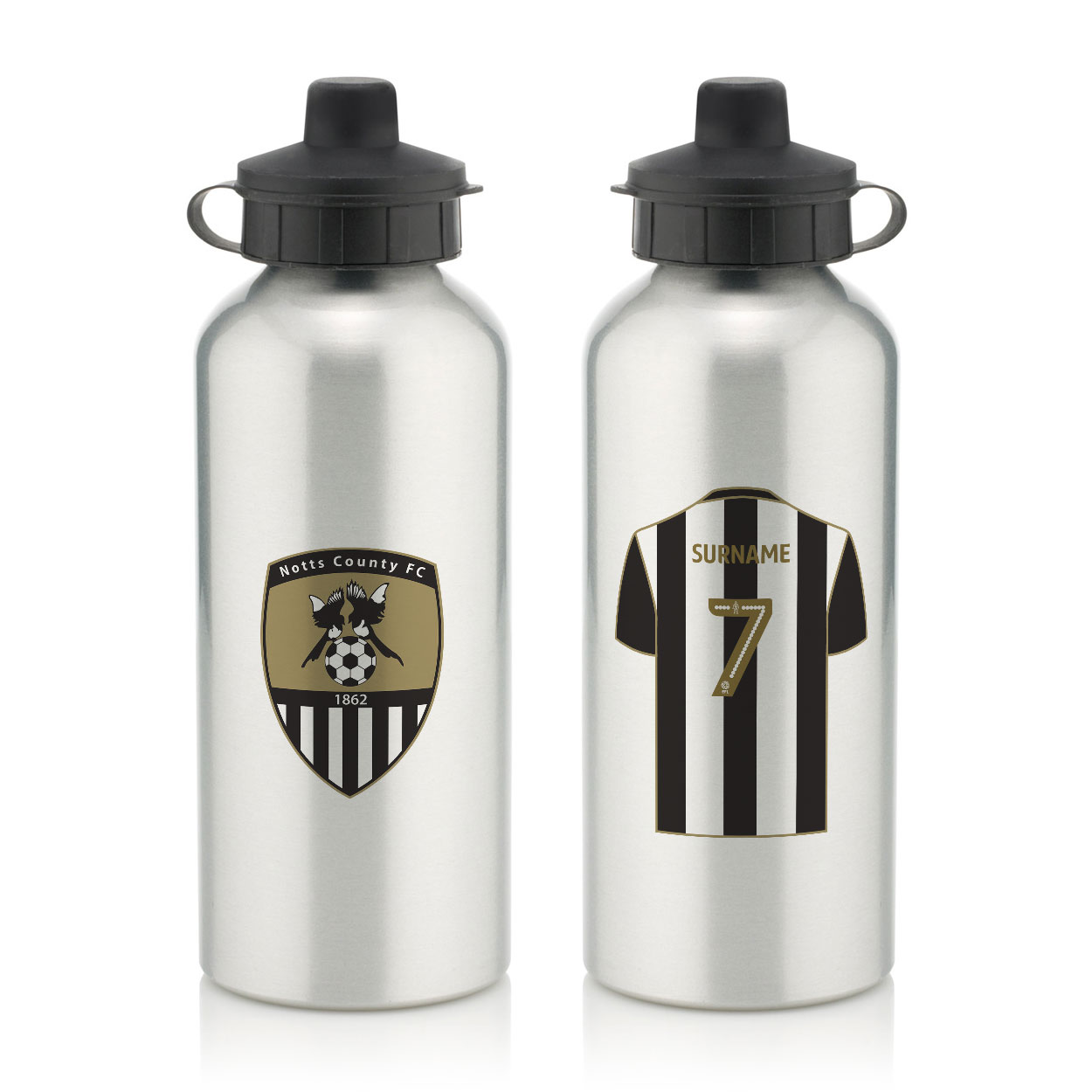Notts County FC Aluminium Water Bottle