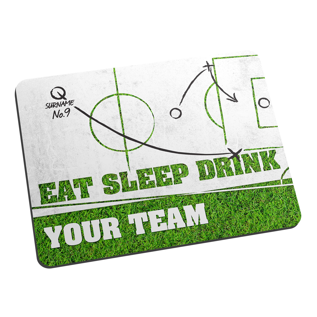 Personalised Eat Sleep Drink Football Mouse Mat