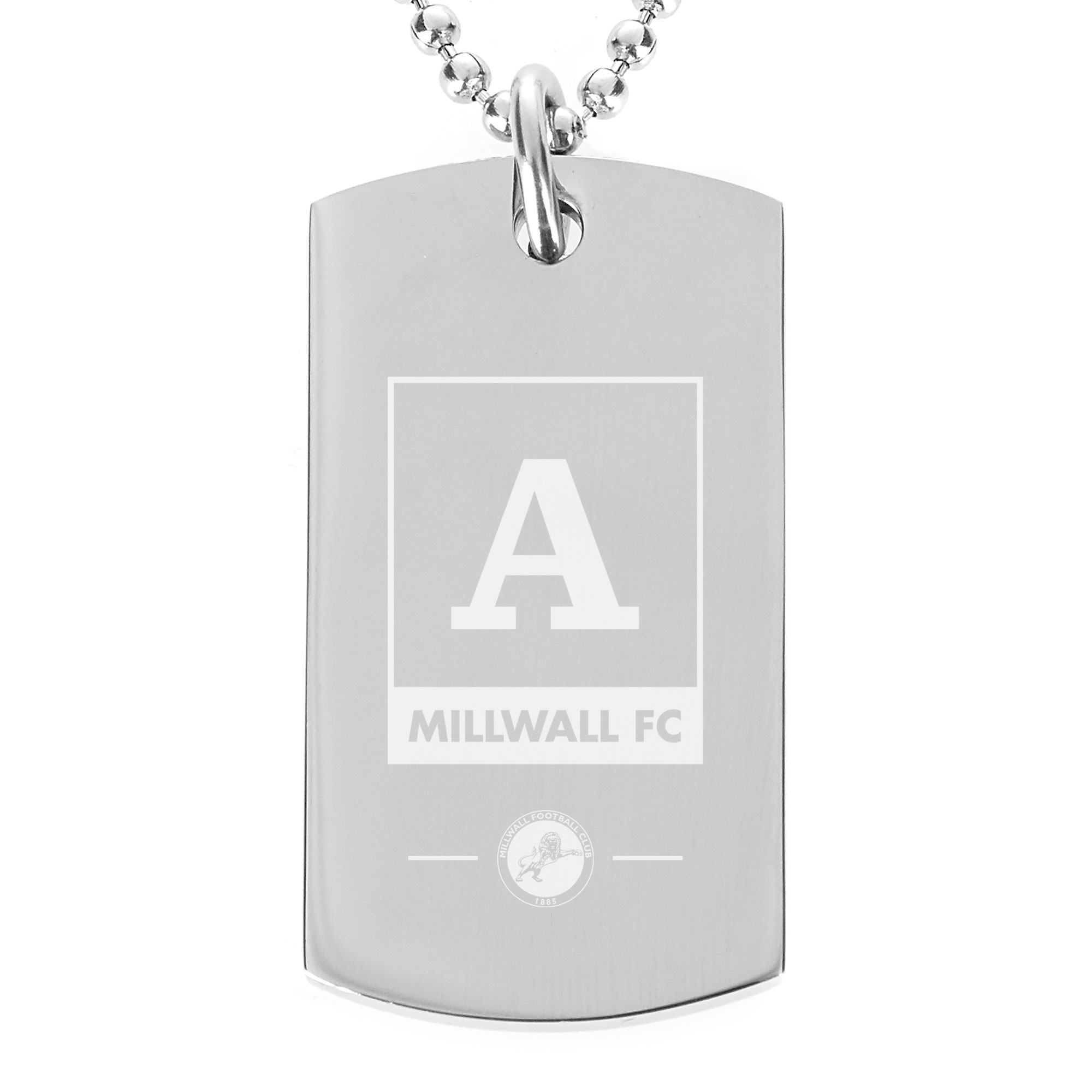 Millwall Monogram Dog Tag Pendant