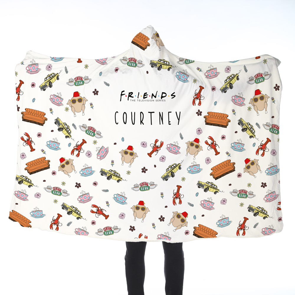 FRIENDS™ Patterned Adult Hooded Blanket