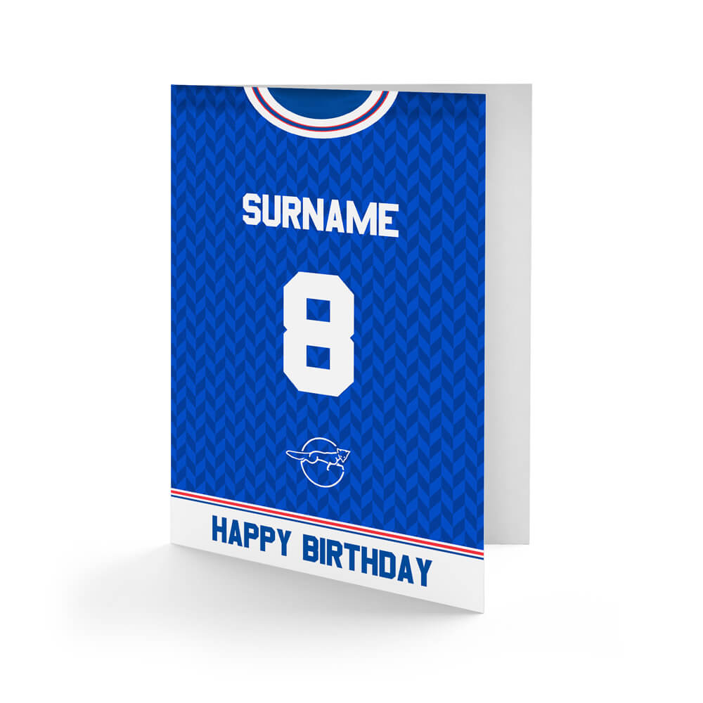 Leicester City FC Retro 87 Kit Birthday Card
