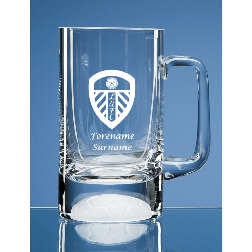 Leeds United FC Crest Half Pint Ball Base Tankard