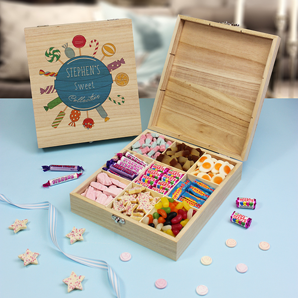 Blue Collection - Wooden Sweet Box. Lifestyle Photo