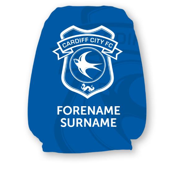 Cardiff City FC Mono Crest Headrest Cover