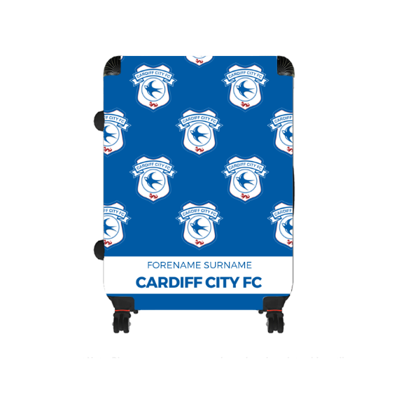 Cardiff City FC Mini Crest Large Suitcase