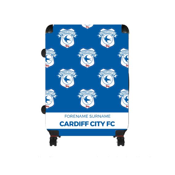 Cardiff City FC Mini Crest Large Suitcase