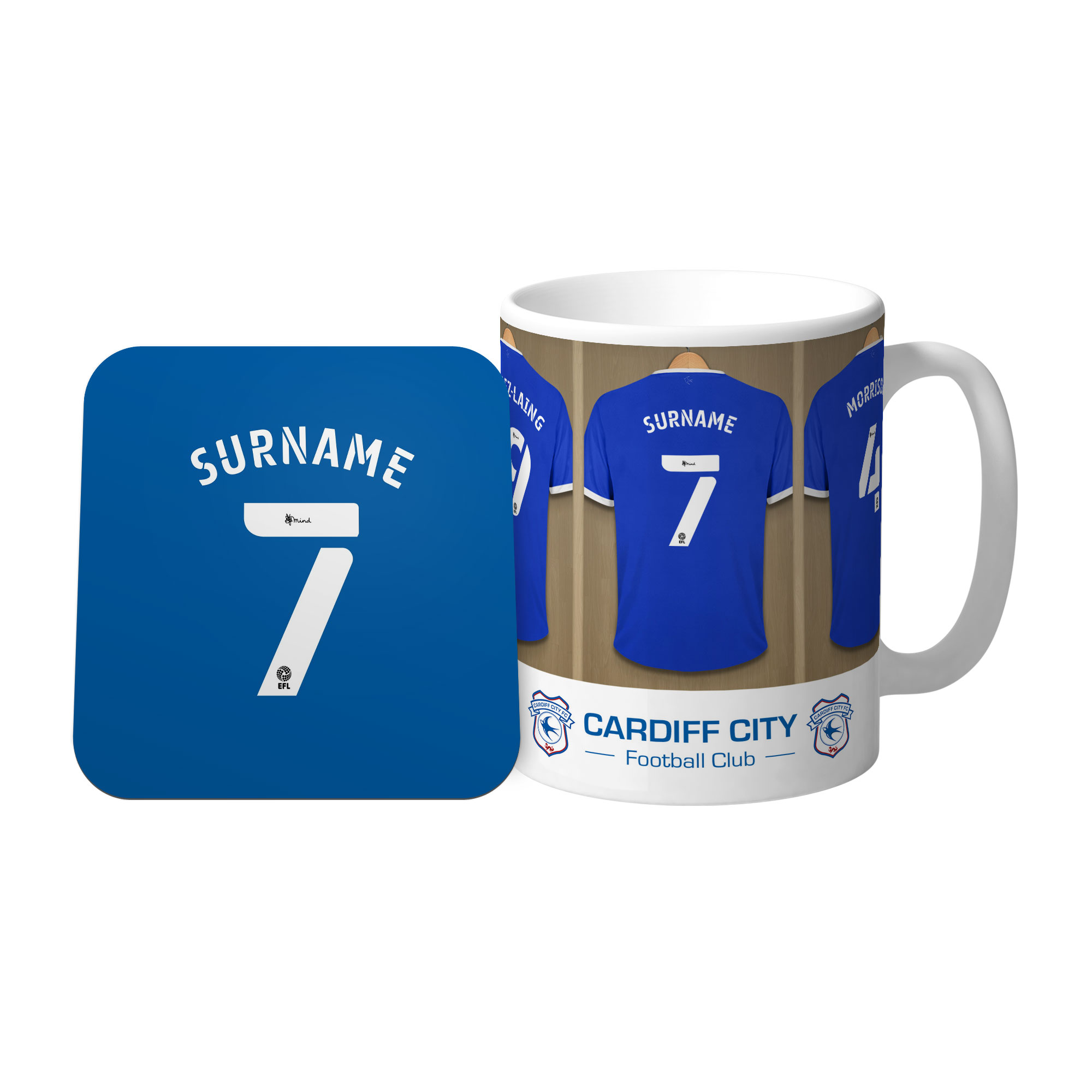 Cardiff City FC Dressing Room Mug & Coaster Set