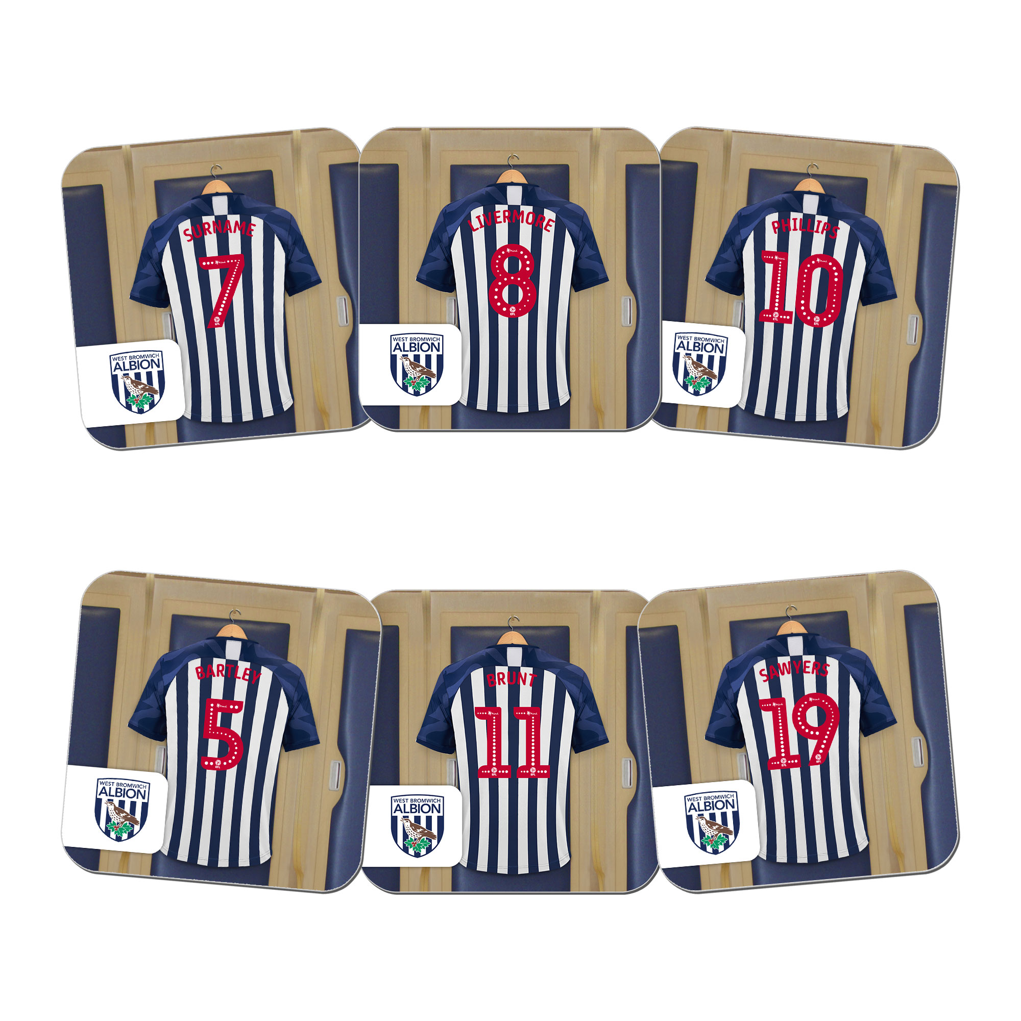 West Bromwich Albion FC Dressing Room Coasters