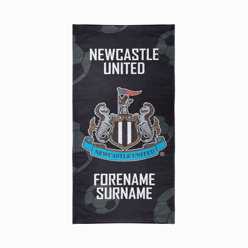Newcastle United FC Crest Design Towel - 80cm x 160cm