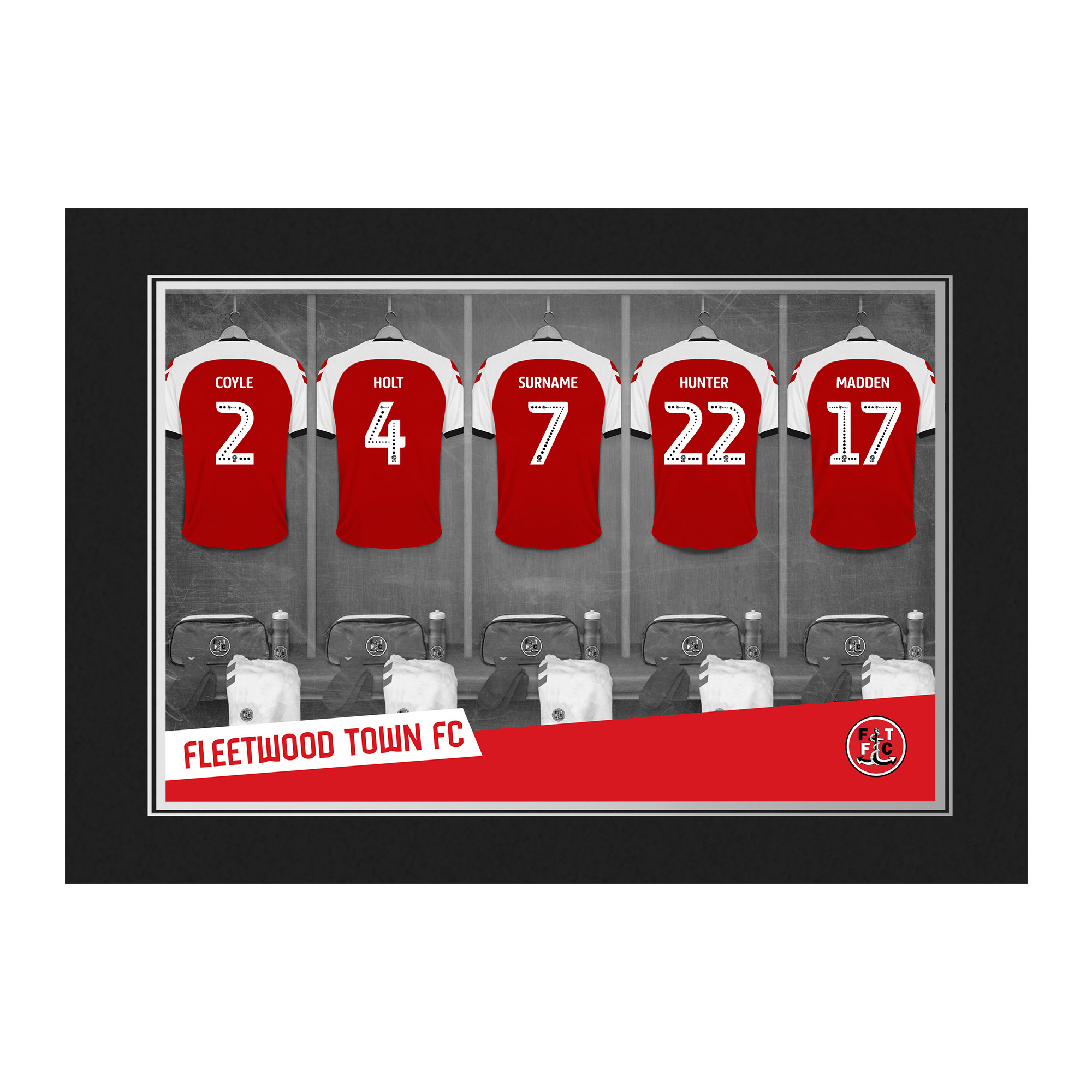 Fleetwood Town FC 9x6 Dressing Room Photo Folder