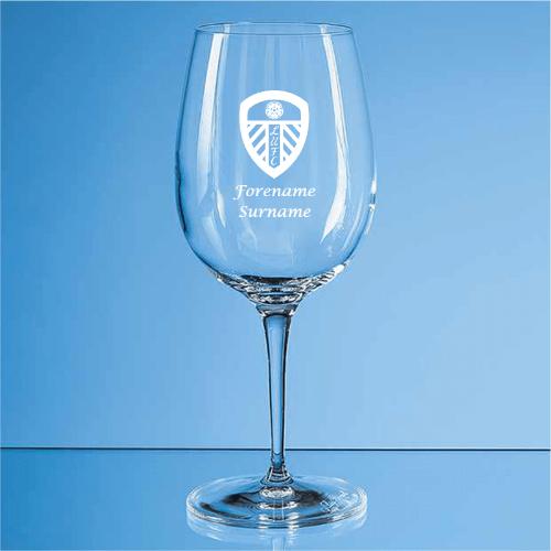Leeds United FC Crest Allegro Wine Glass