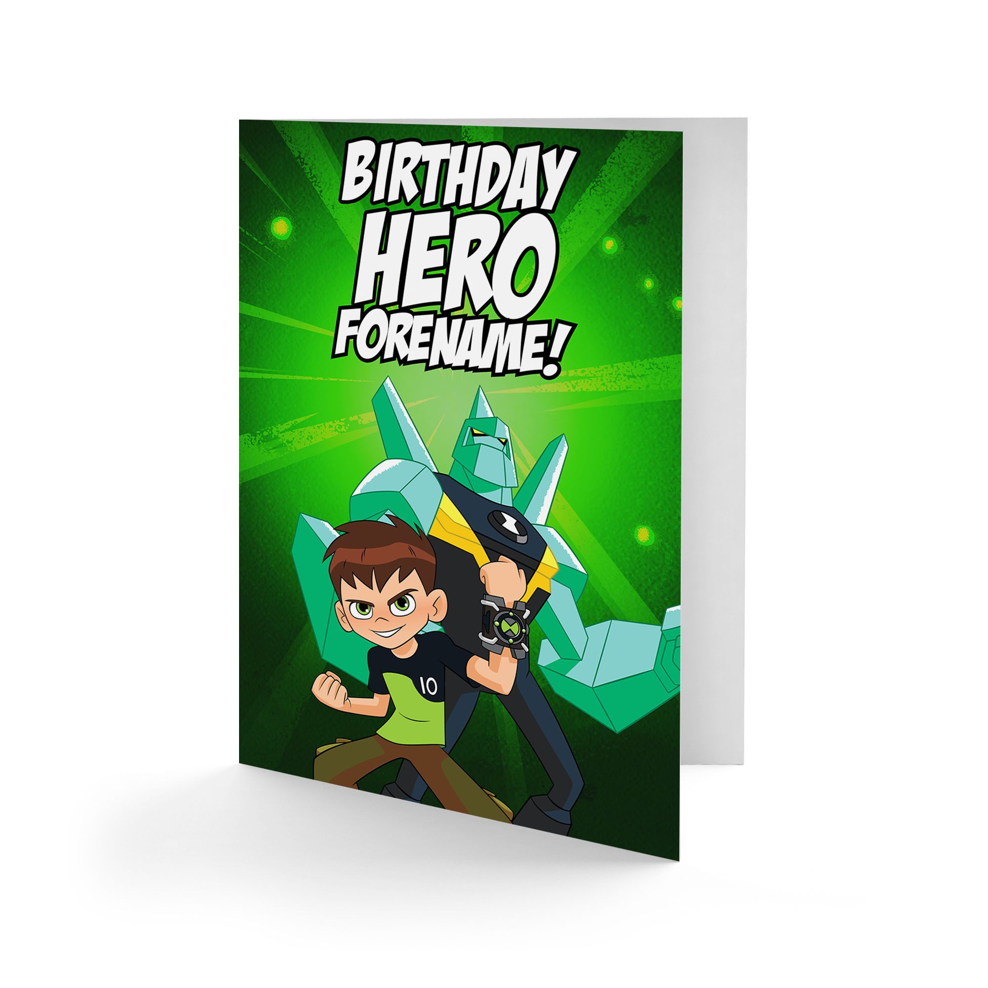 Ben 10 Diamondhead Birthday Hero Card