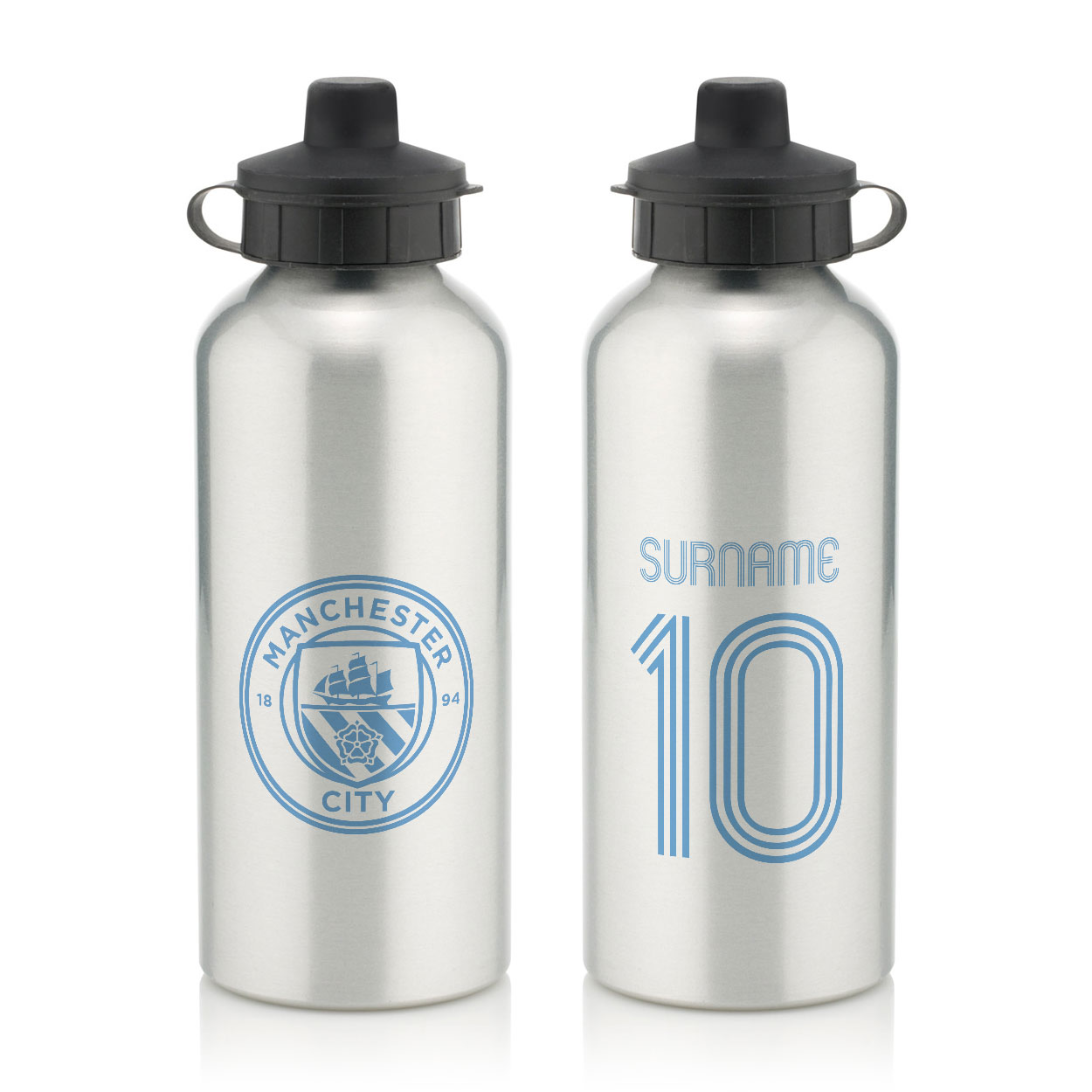 Manchester City FC Retro Shirt Water Bottle