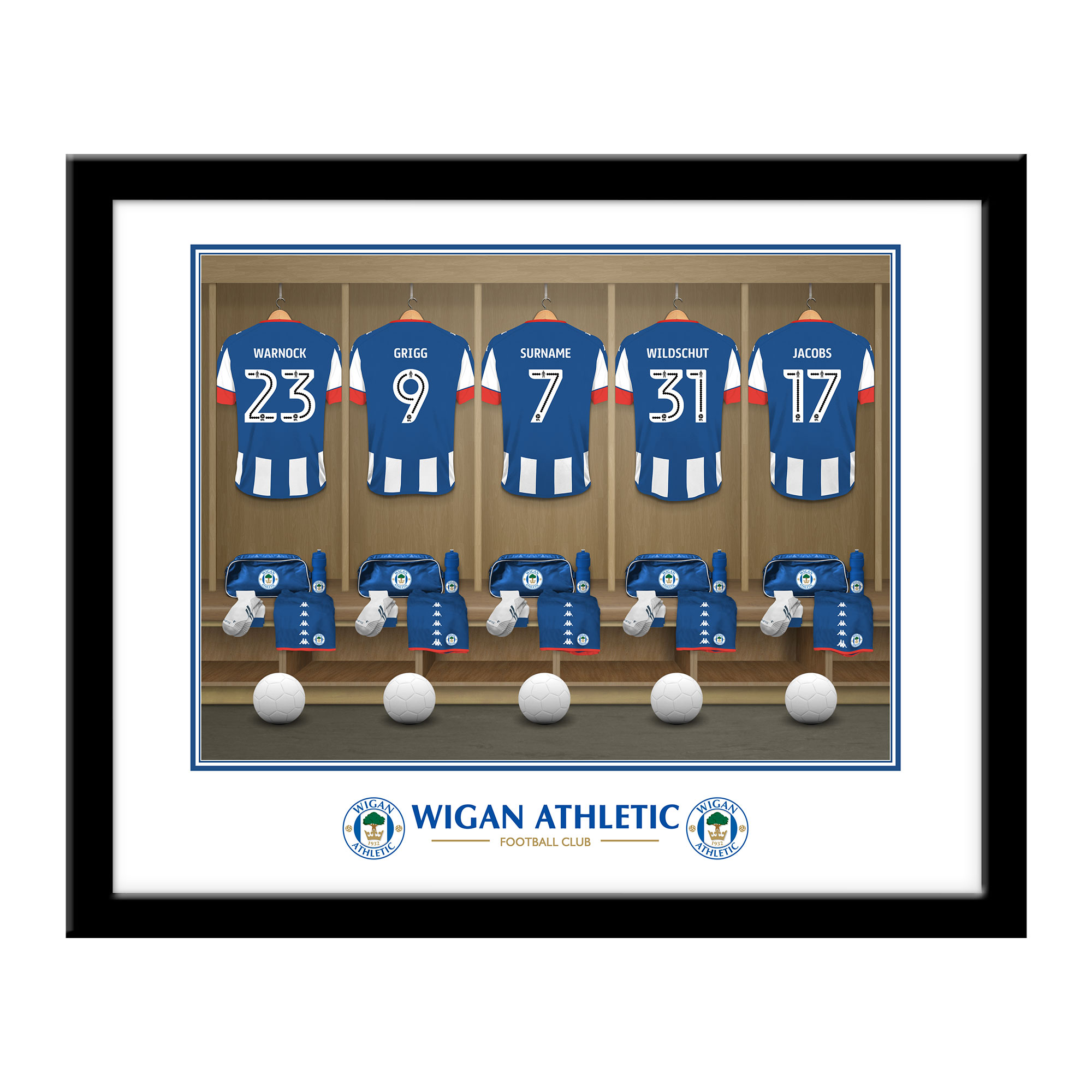 Wigan Athletic FC Dressing Room Framed Print